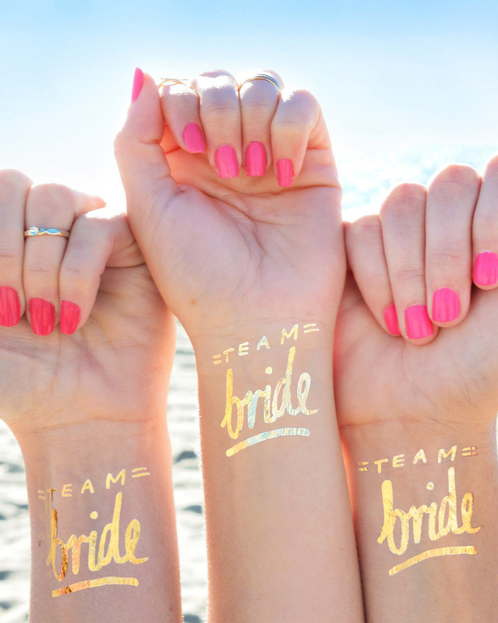 bachelorette party supplies gold tattoos on wrists