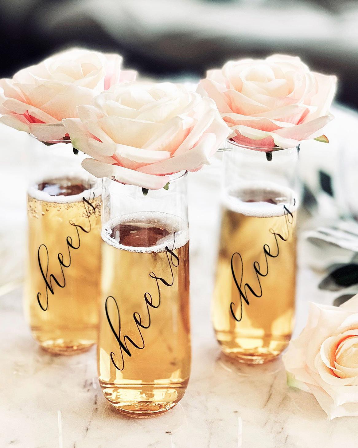 bachelorette party supplies champagne glasses