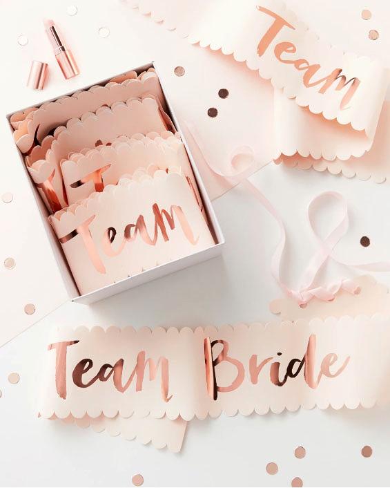 bachelorette party supplies team bride sashes