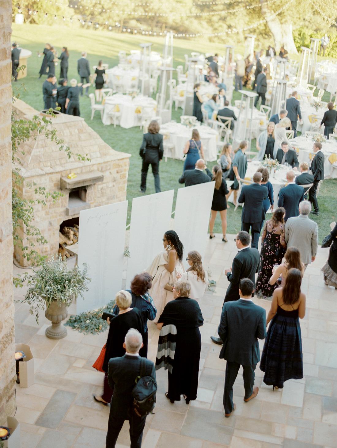 guests entering wedding reception area