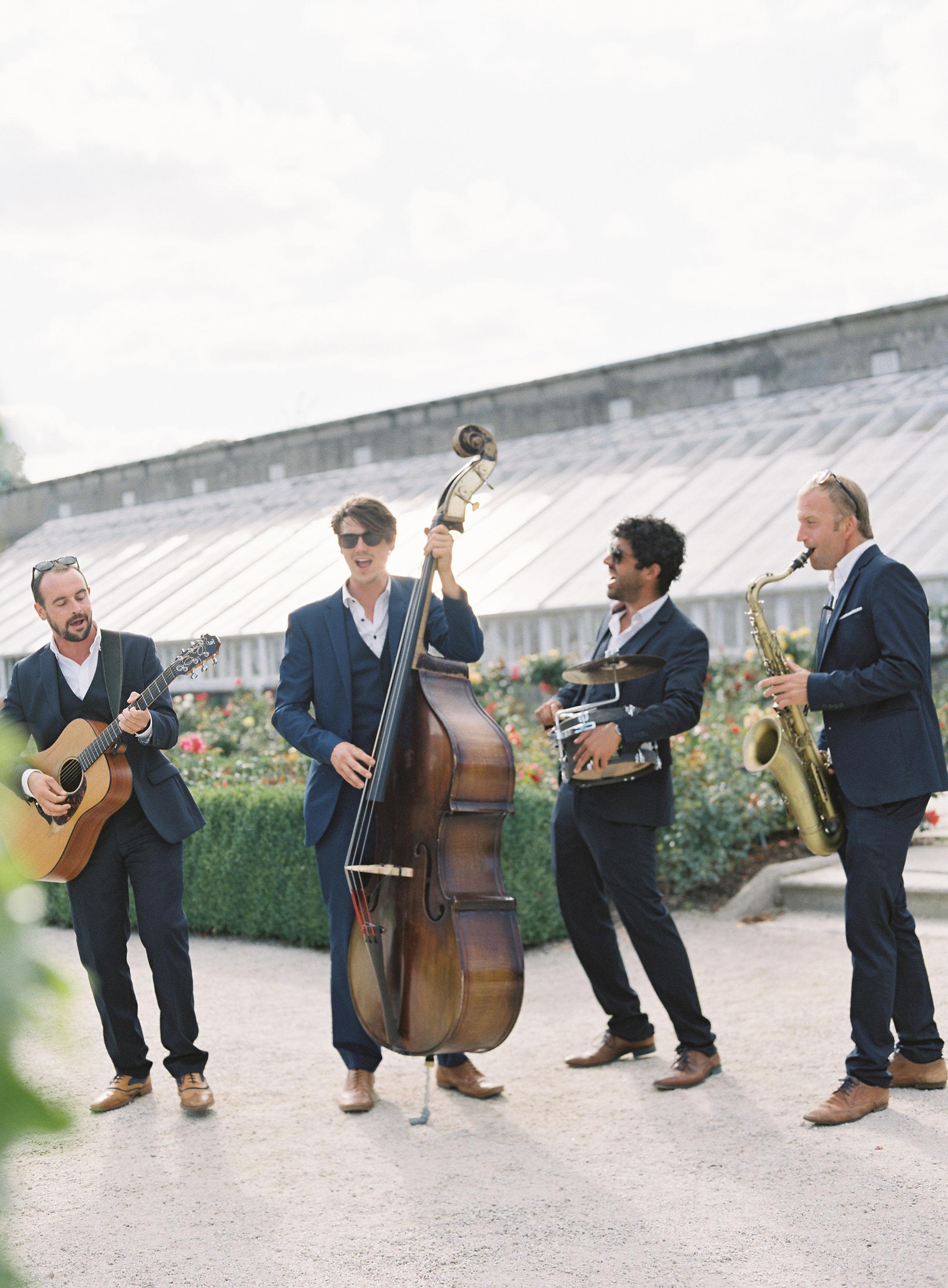 four person wedding band The Strikes