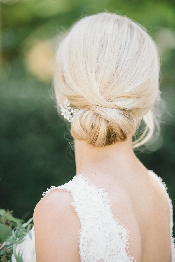 bride hairstyle low bun classic volume