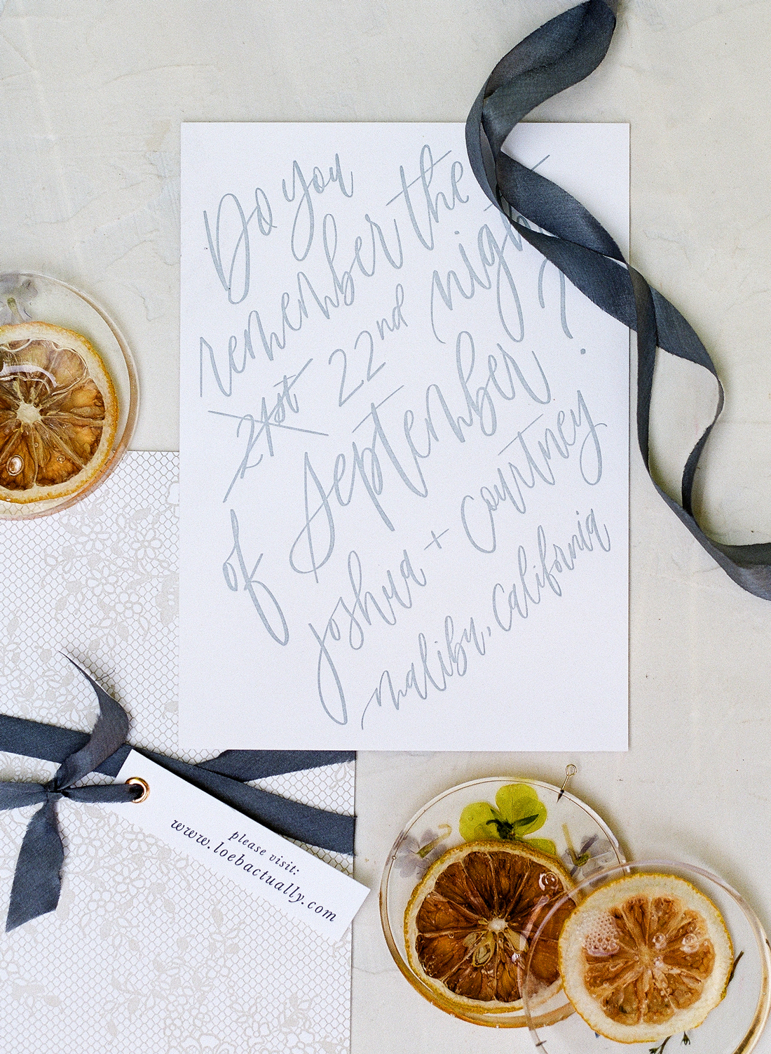 white and navy save the dates