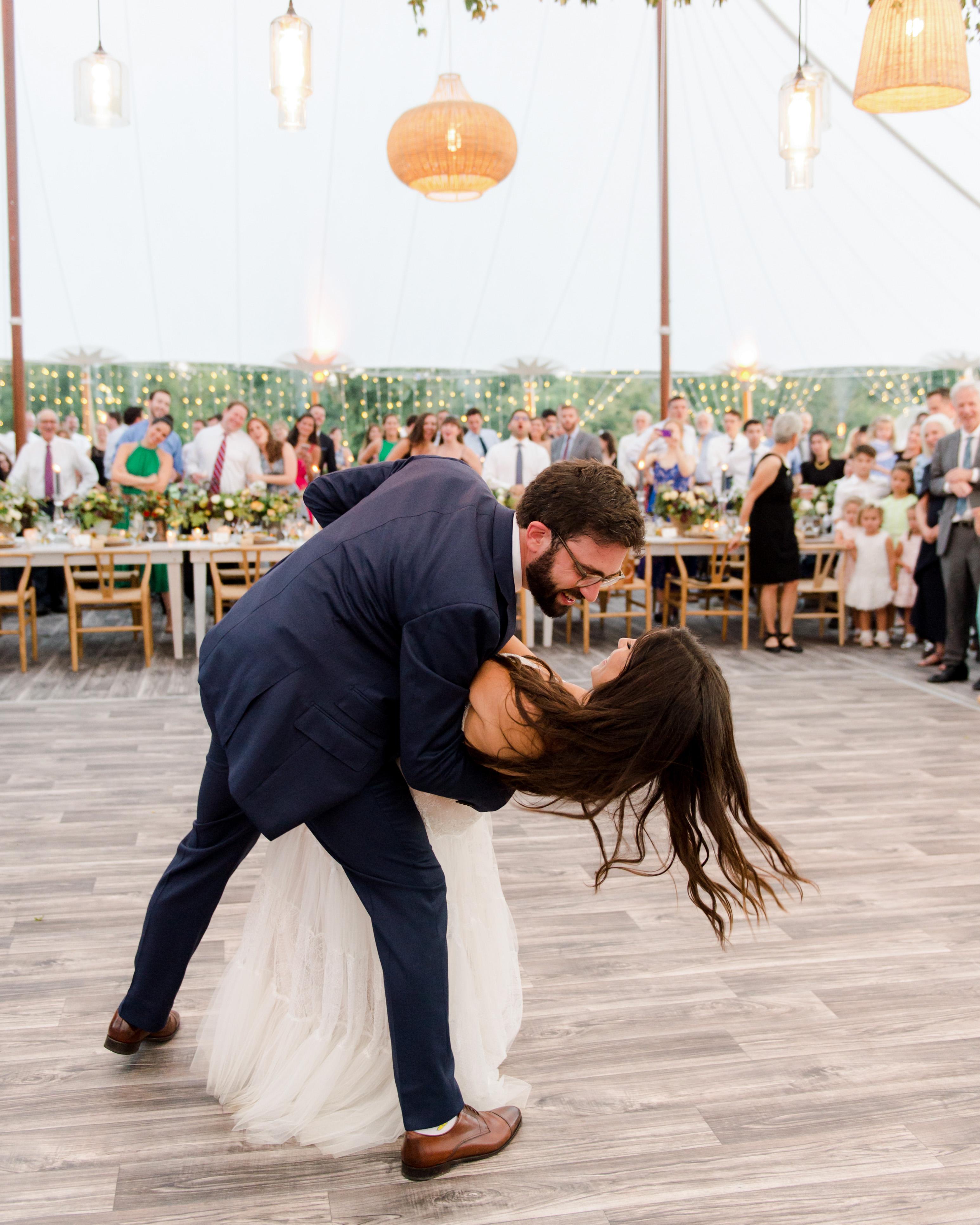 wedding couple reception first dance