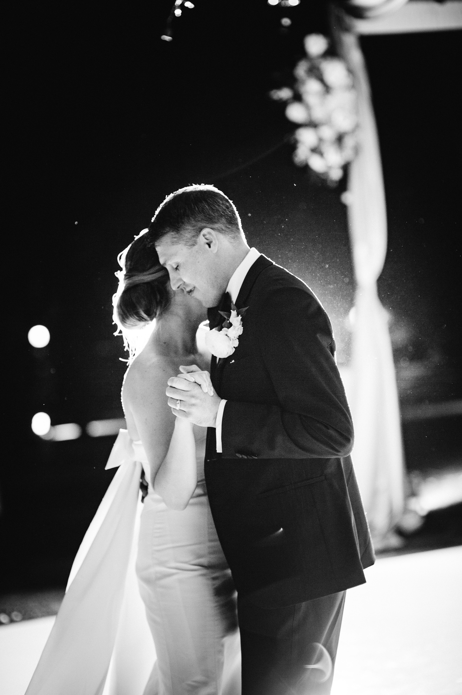 cathleen and winston wedding bride and groom sharing first dance