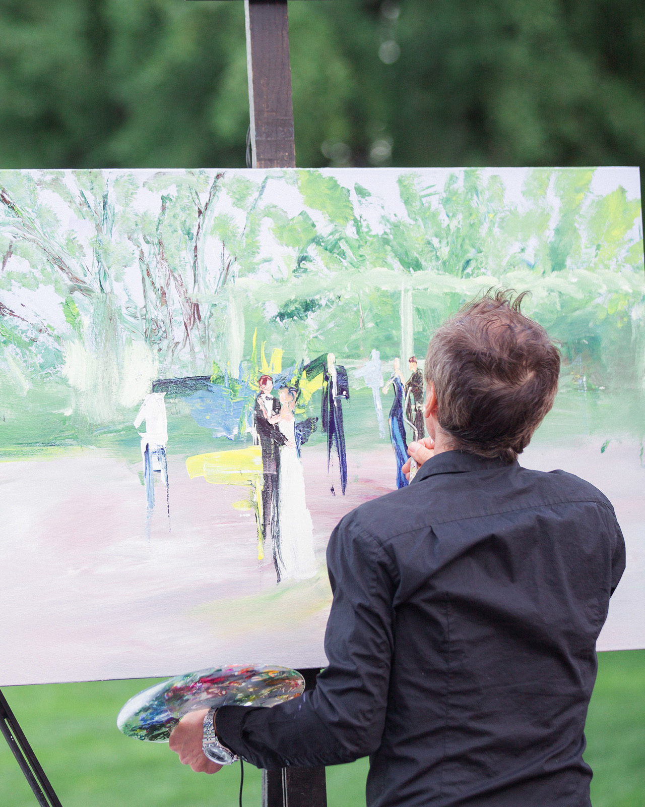 art-inspired wedding ideas live plein air painter