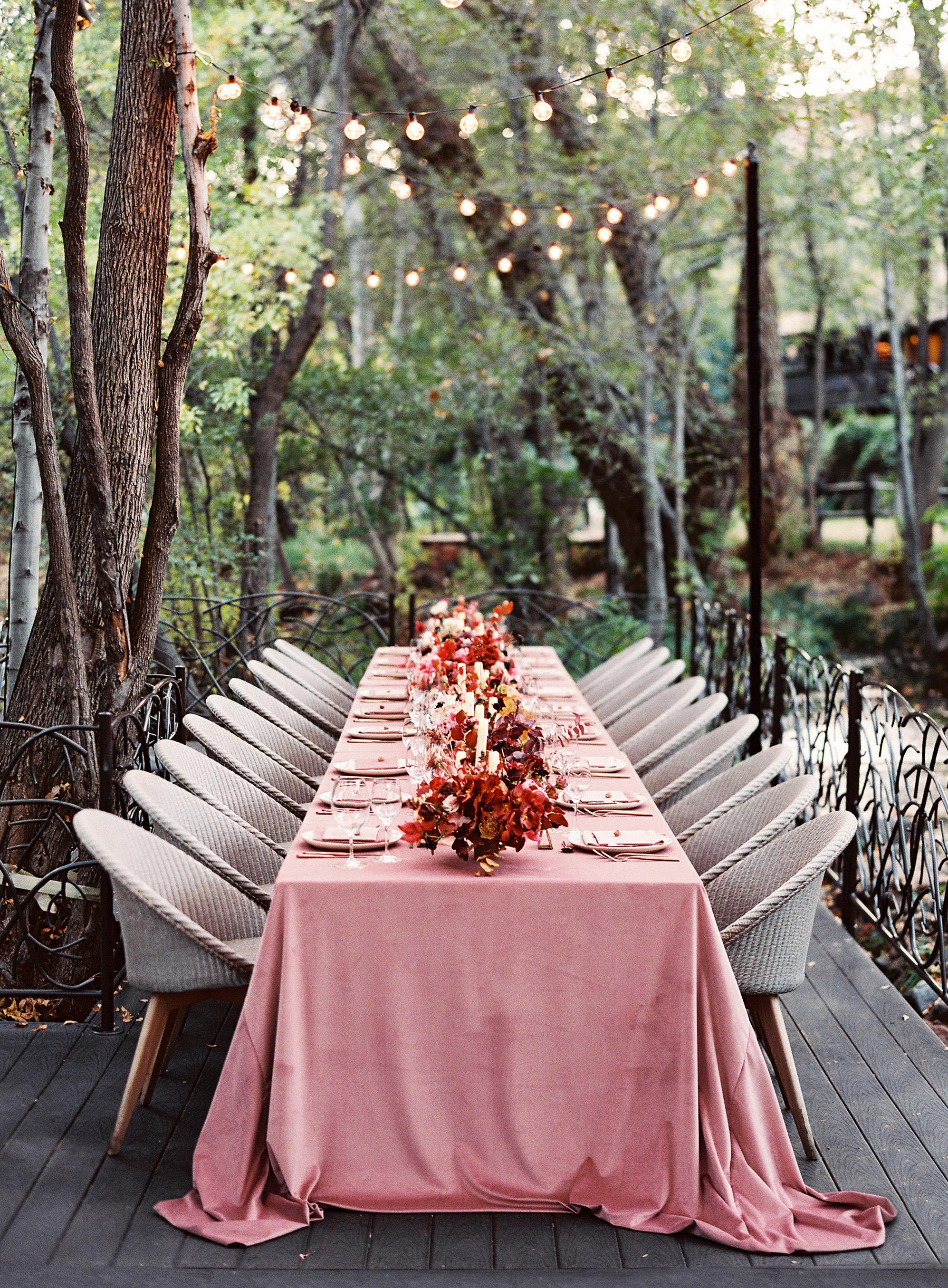 stefanie terrel wedding pink reception table