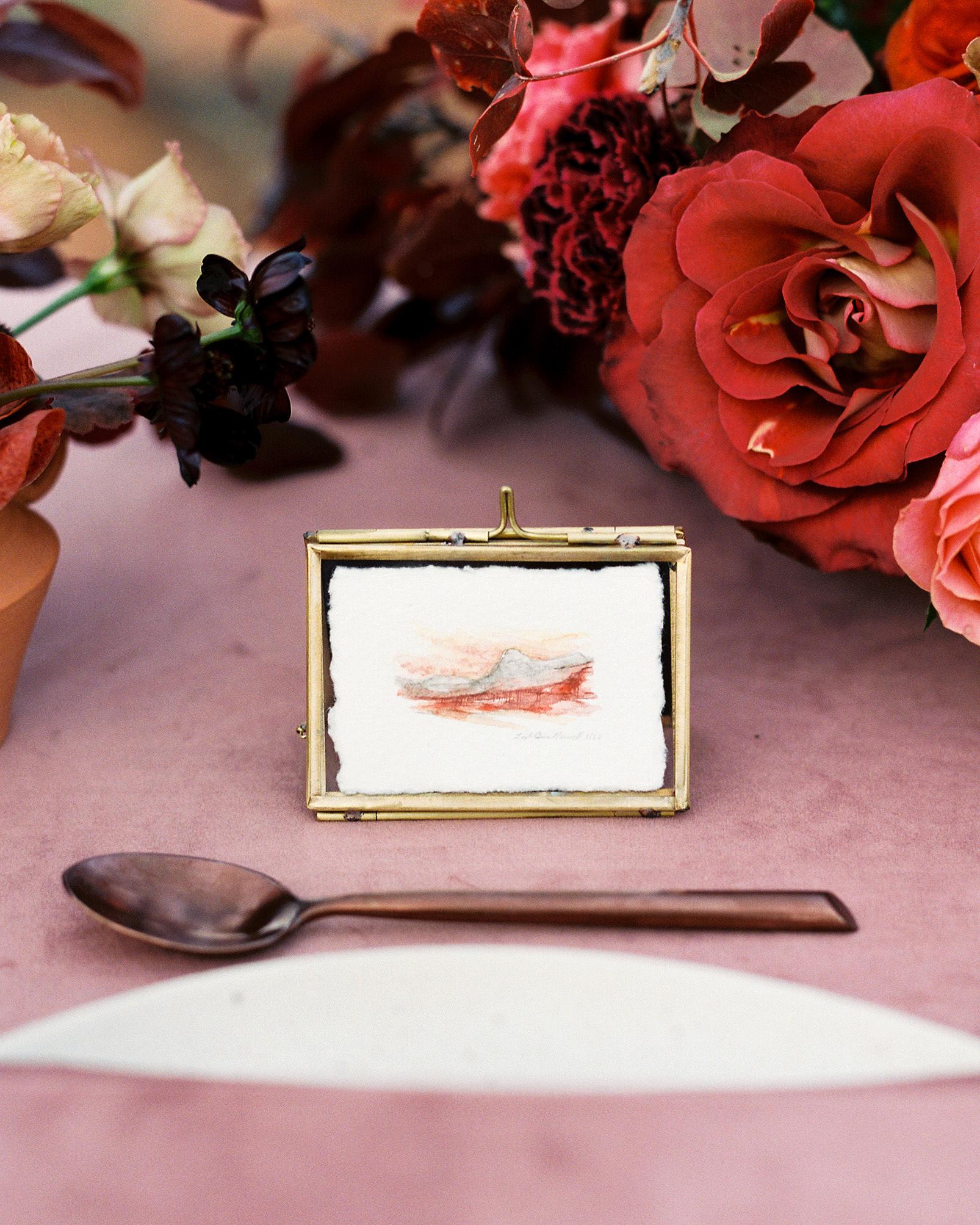 stefanie terrel wedding reception table details