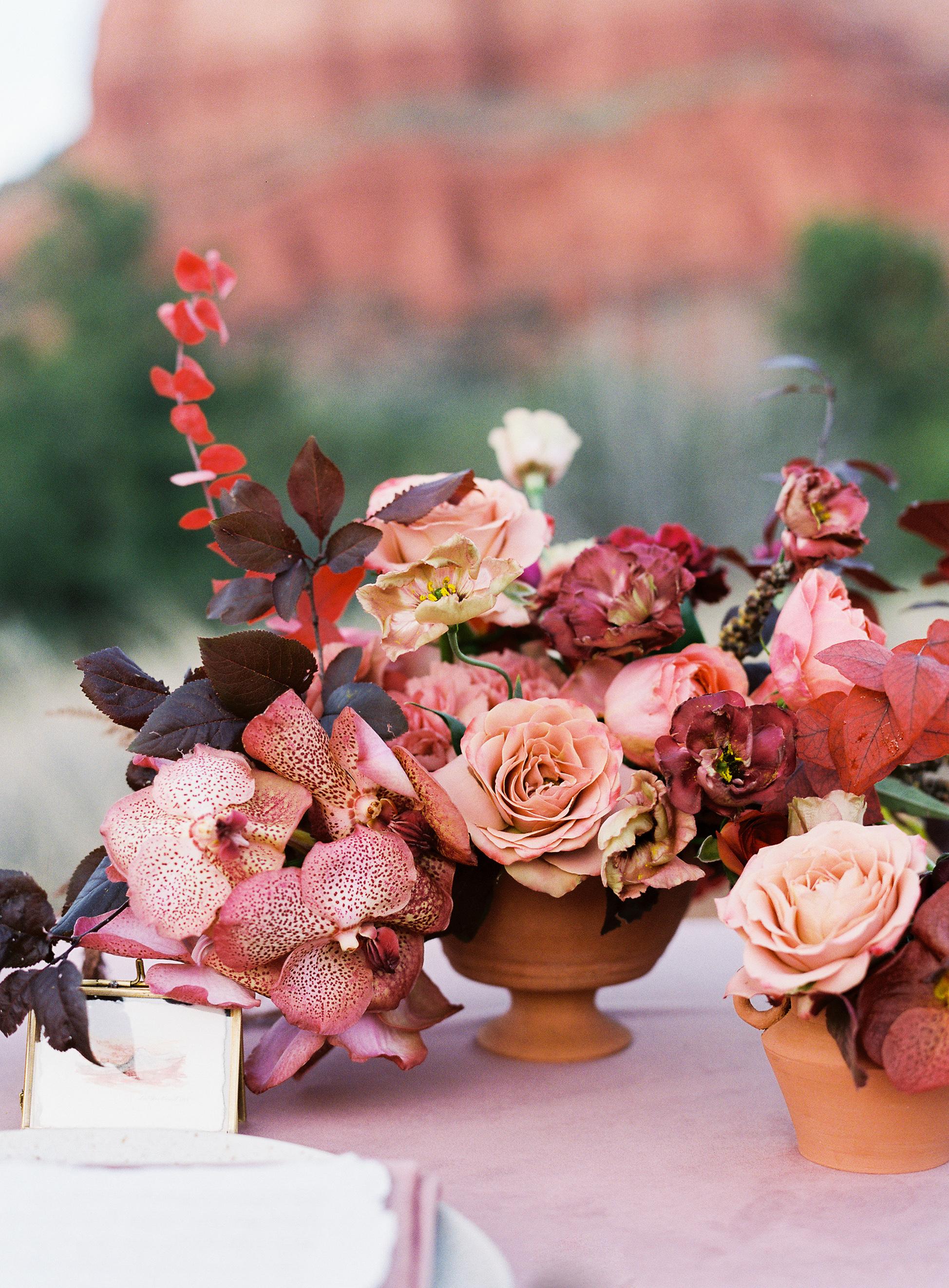 stefanie terrel wedding floral centerpiece
