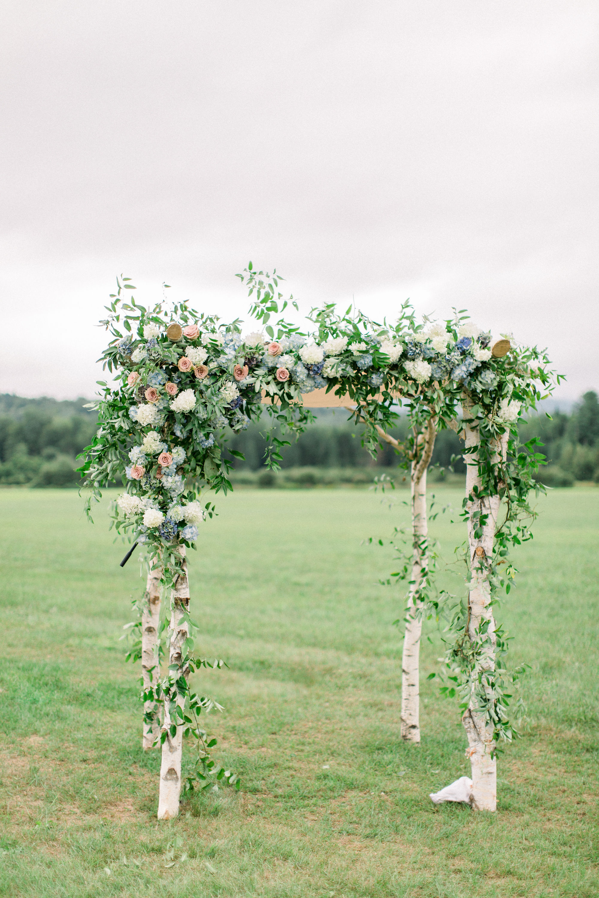 lauren josh wedding ceremony floral chuppah