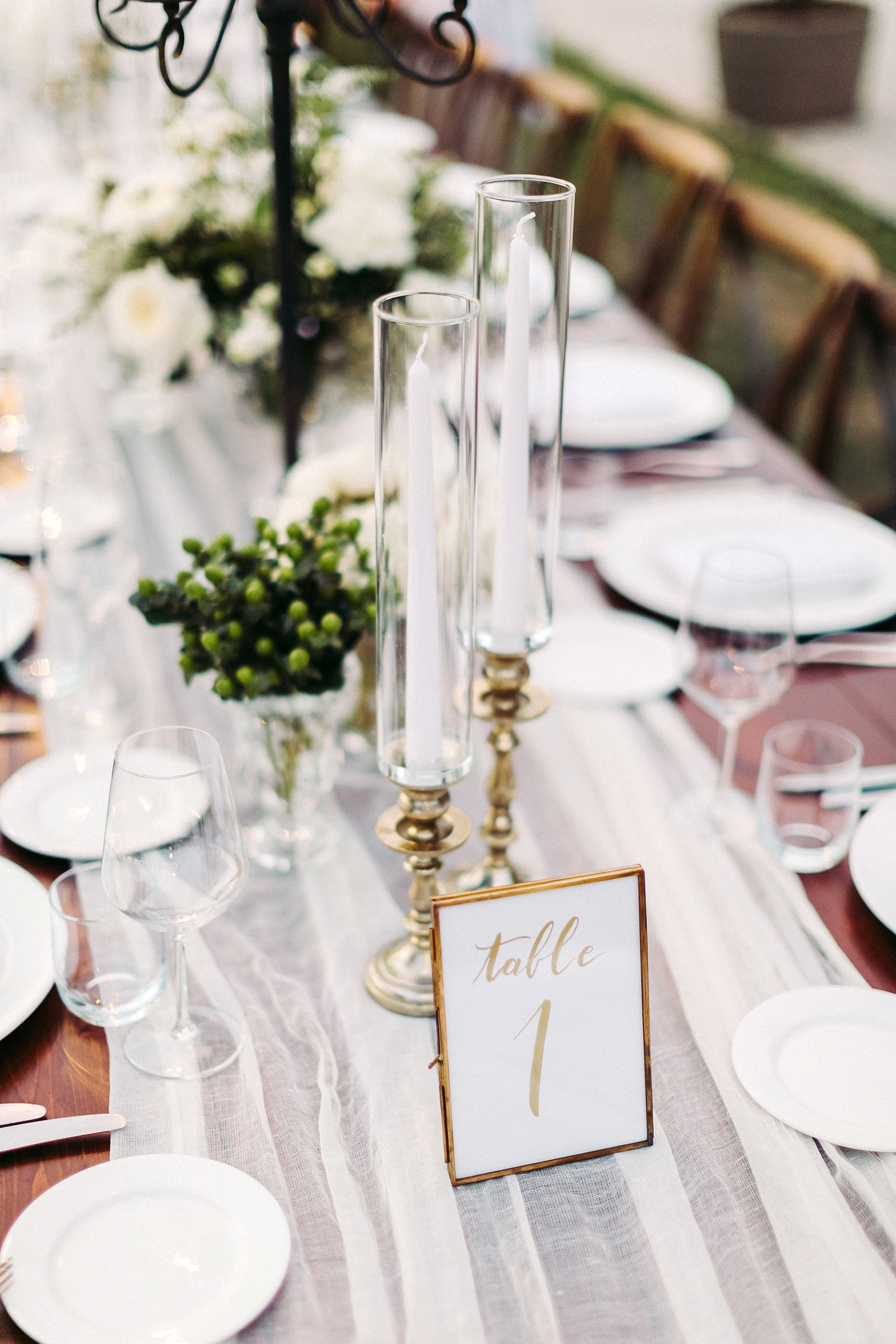 kseniya sadhir wedding table numbers centerpieces tablescape and place settings