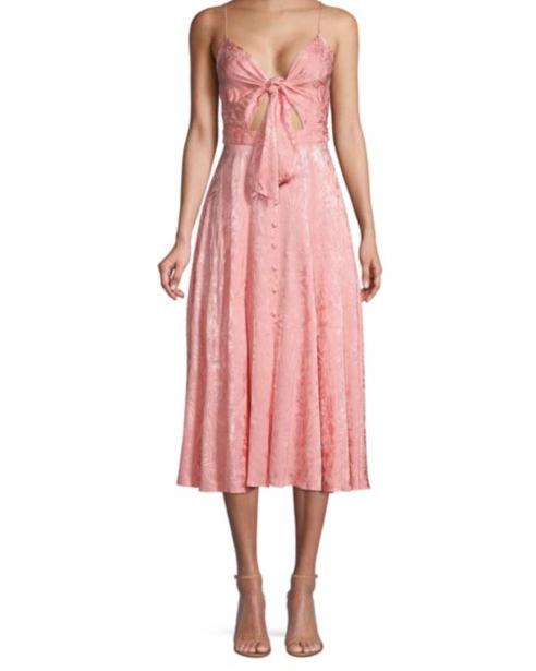 "Jay Godfrey ""Sheila"" Tie-Front Cutout Dress"