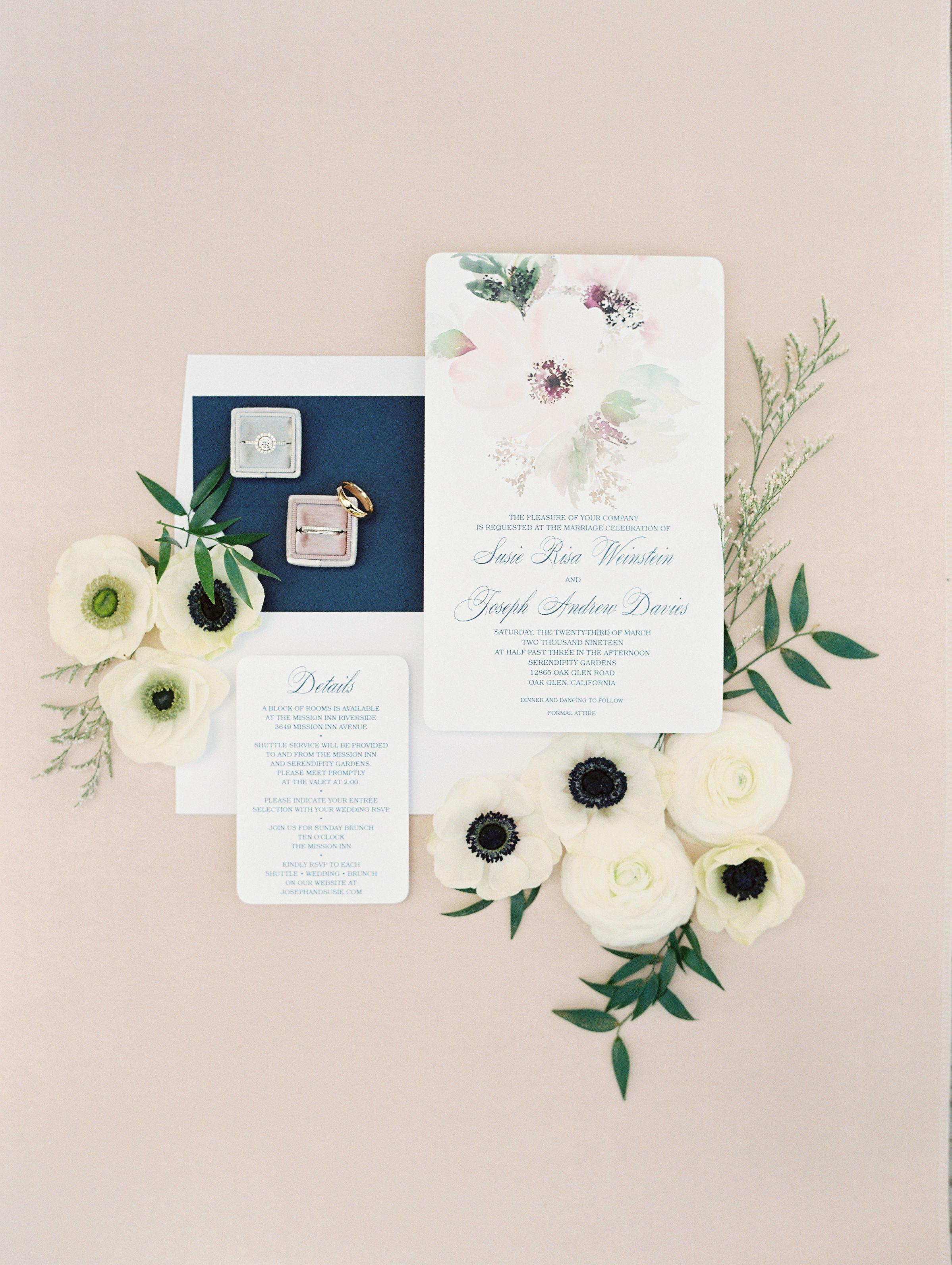 susie joe wedding invites