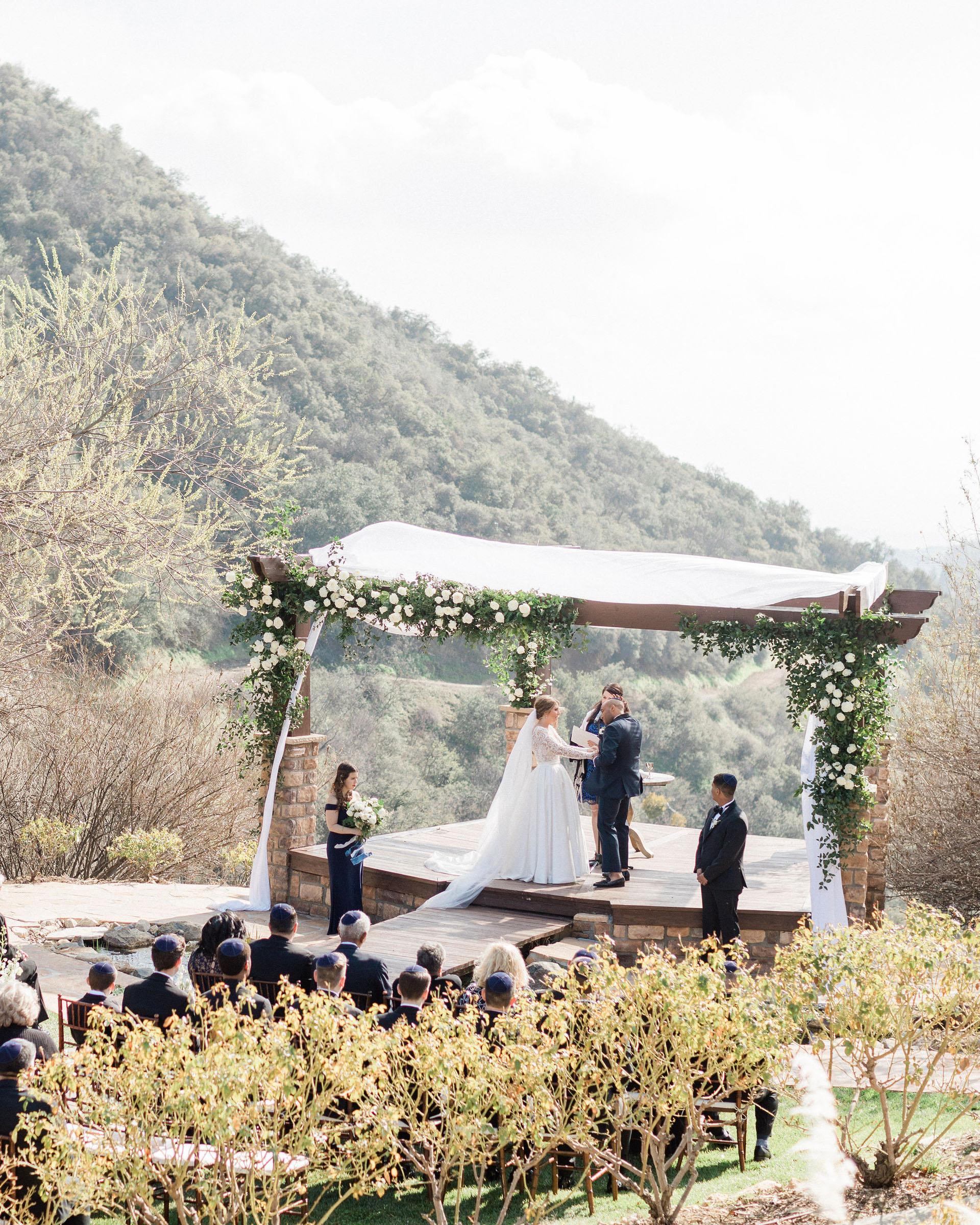 susie joe wedding ceremony at altar