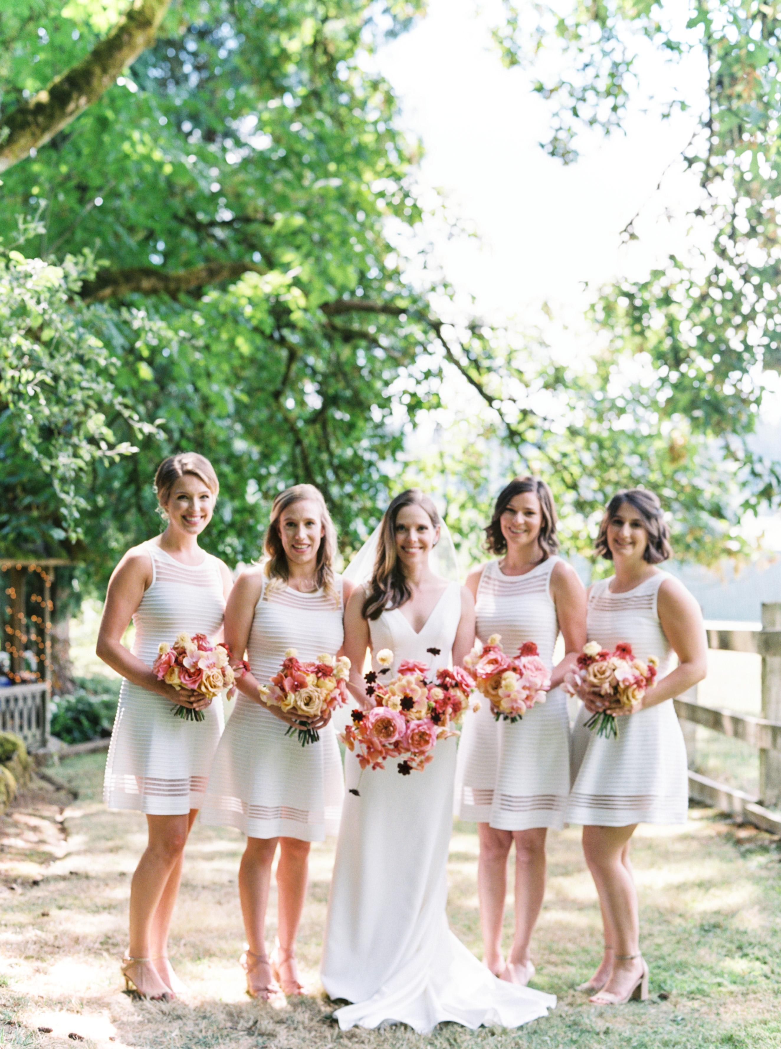 paige matt wedding bridesmaids outside