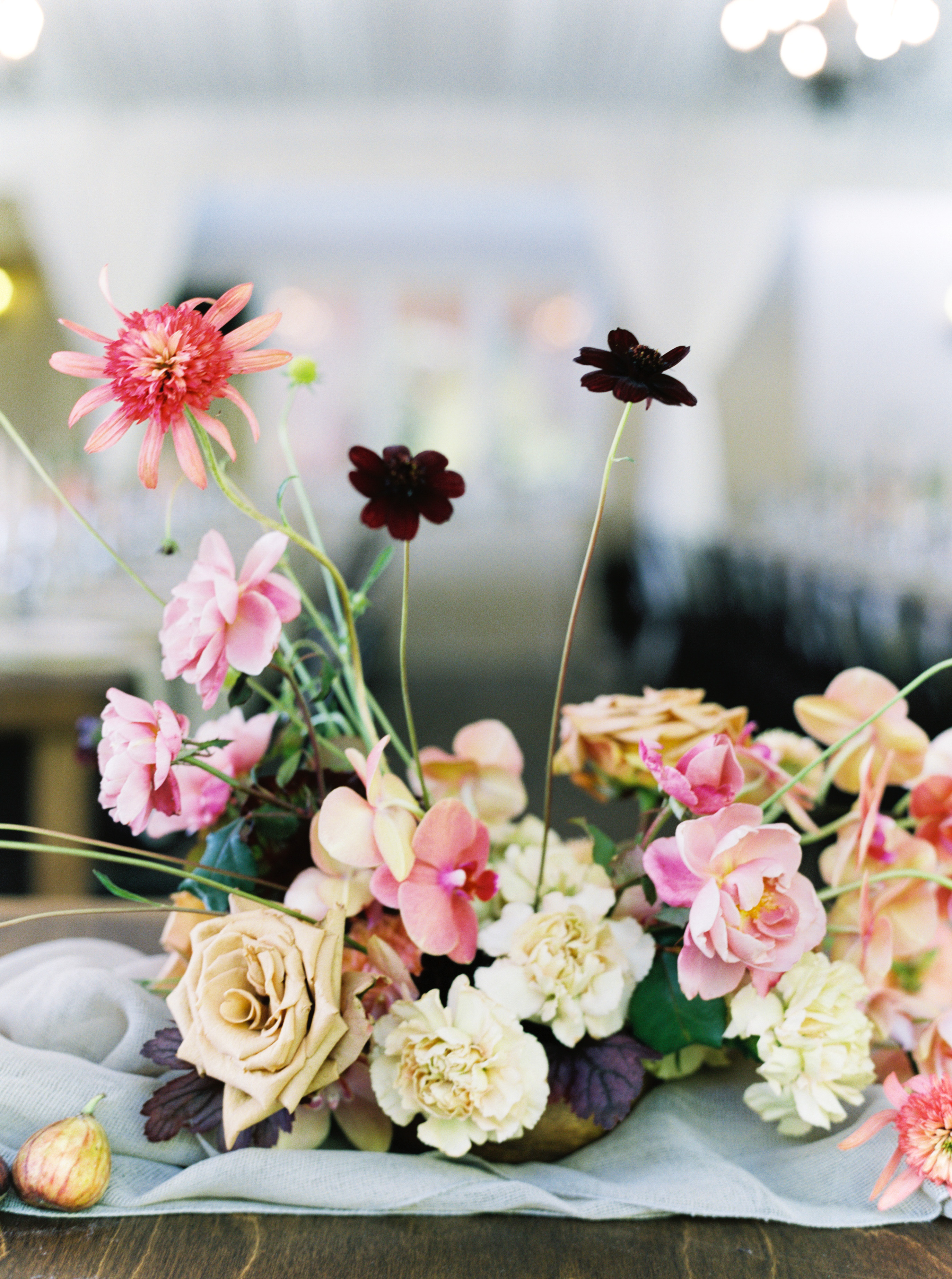 paige matt wedding floral centerpieces