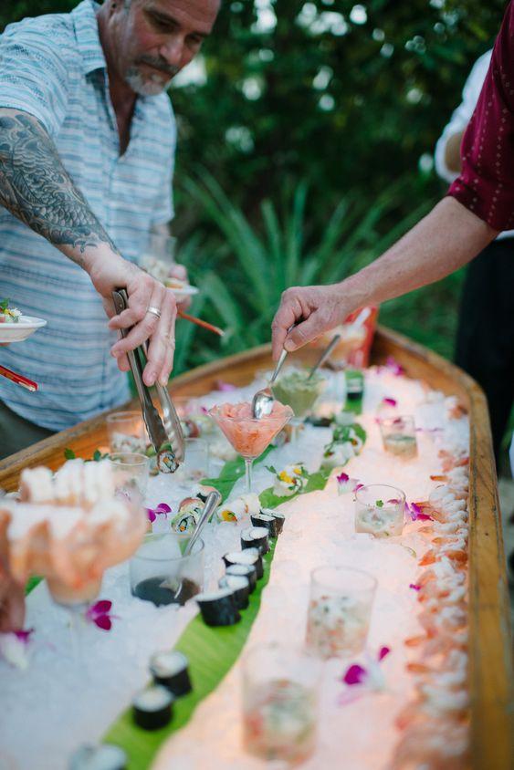 wedding sushi bar