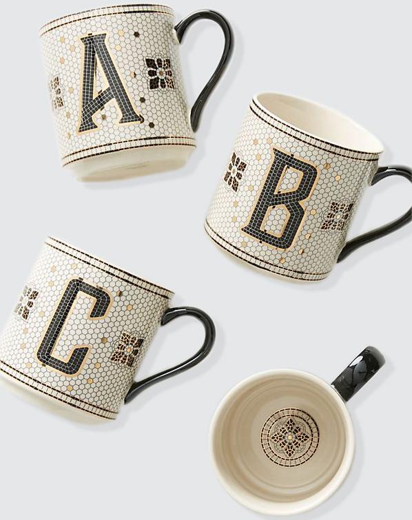 personalized gift monogram tiled mugs