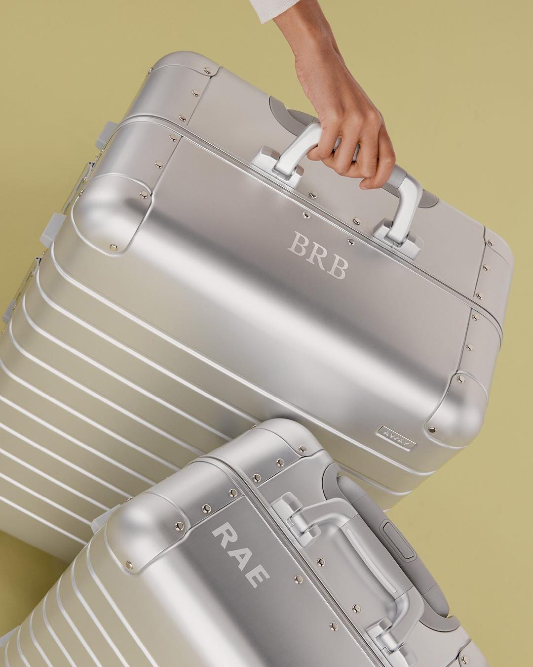 personalized gift initialed luggage