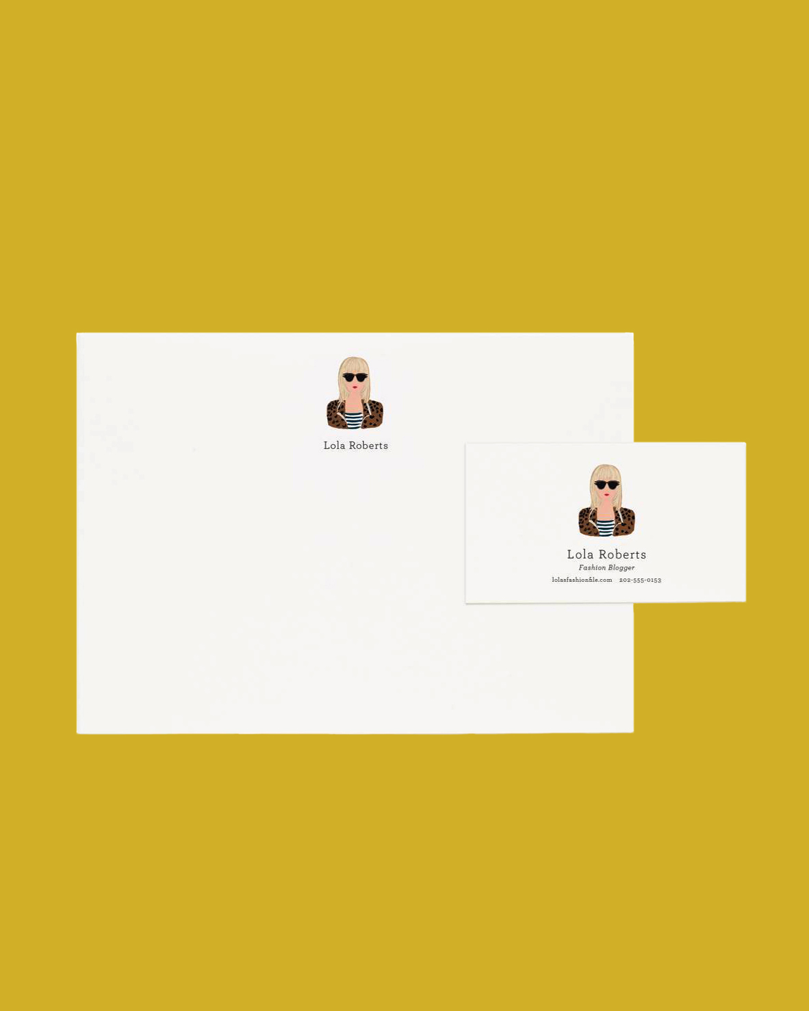personalized gift illustrated stationery