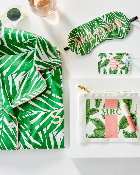 personalized gift tropical themed sleep mask