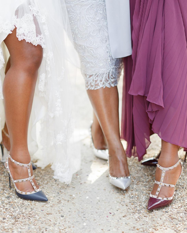 ryan thomas wedding bride and bridesmaids shoes