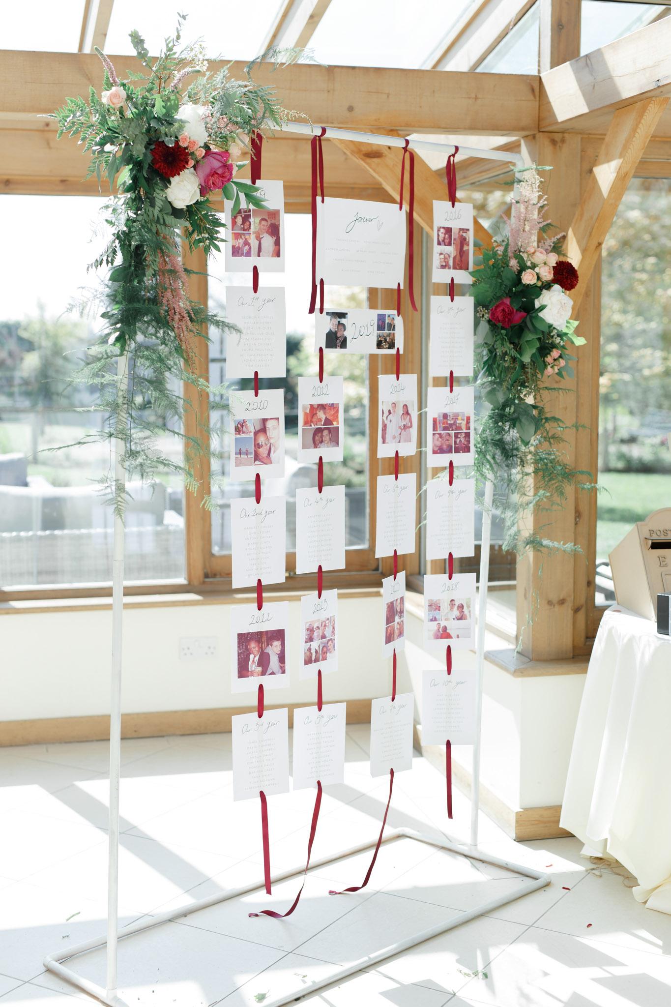 ryan thomas wedding hanging seating chart