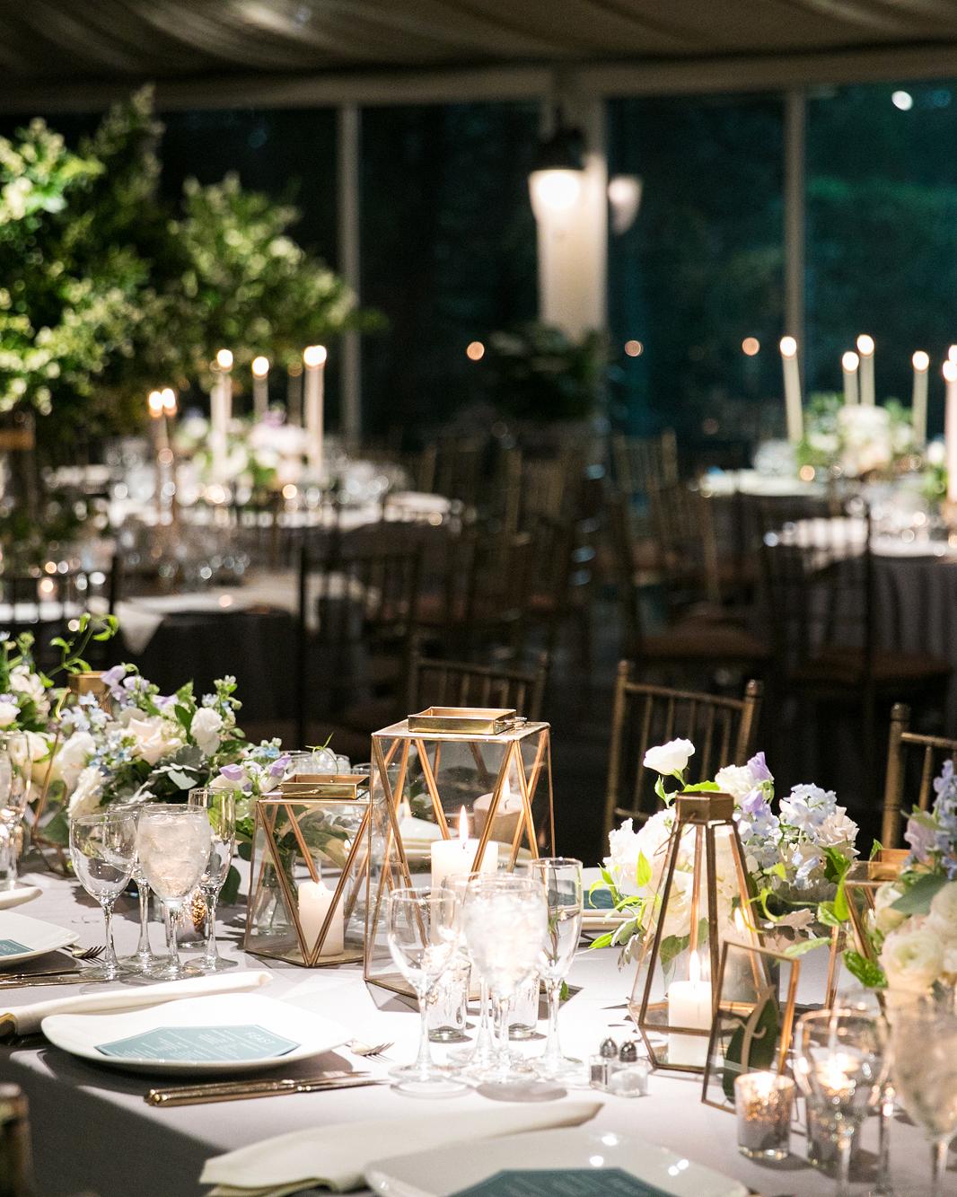 night wedding idea candlelight reception