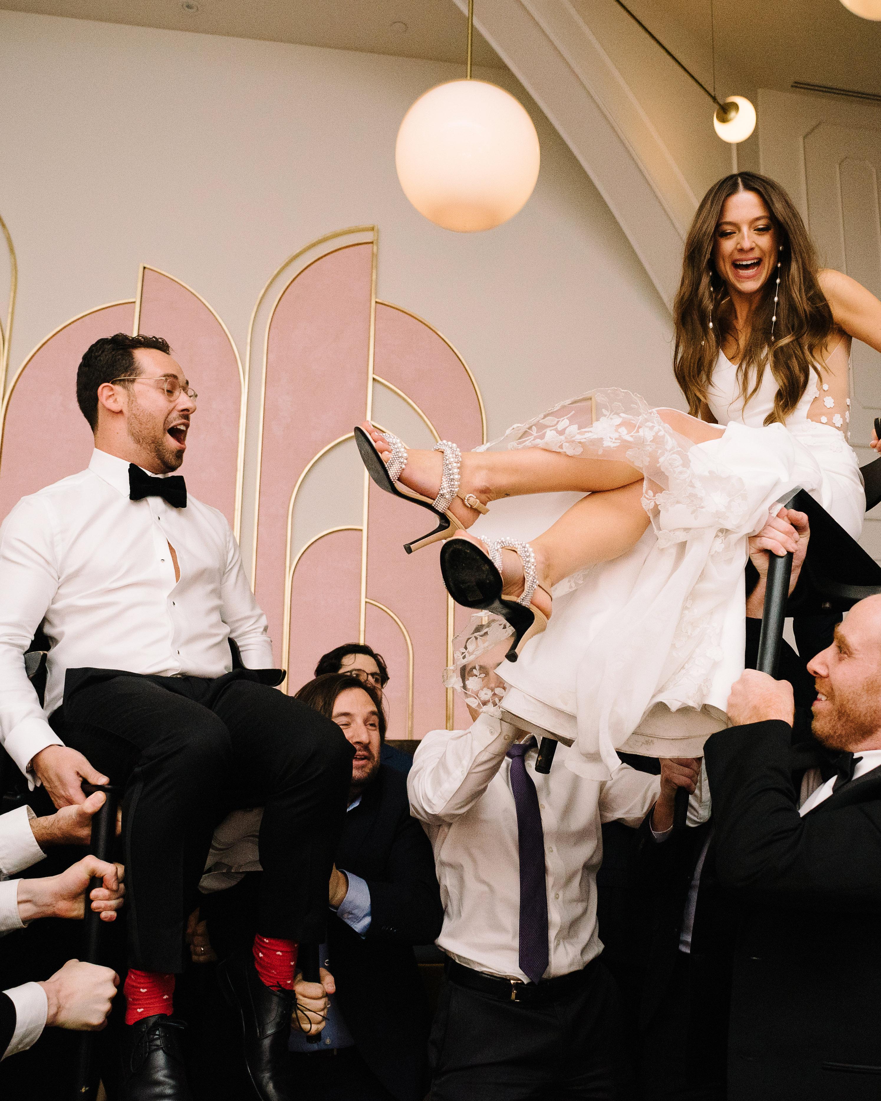 krista will wedding groom bride hora dance
