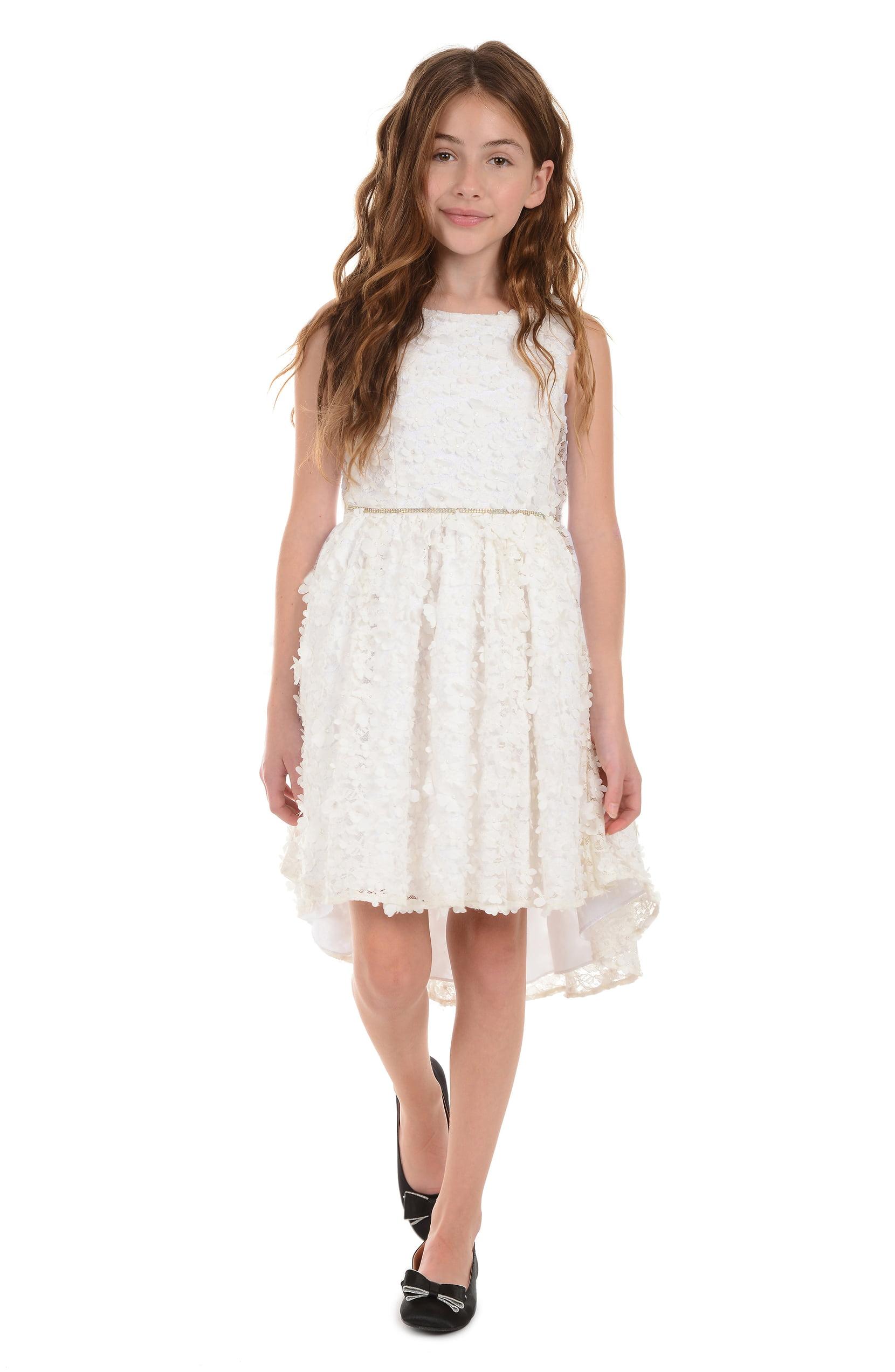 Badgley Mischka Floral High-Low Dress