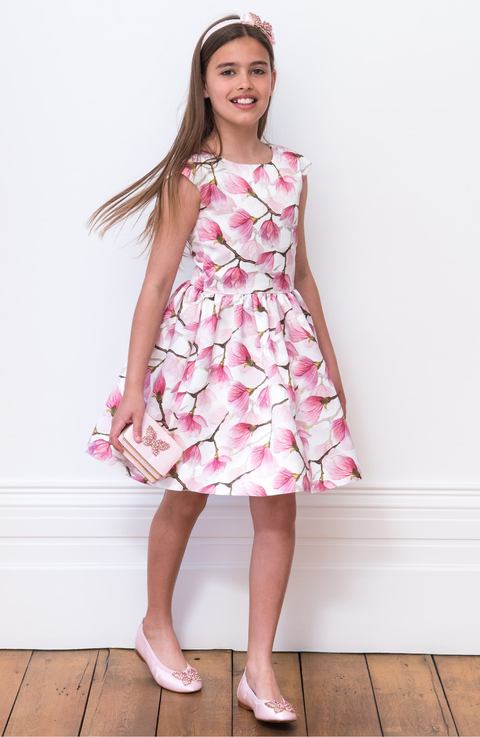 David Charles Floral Fit and Flare Dress