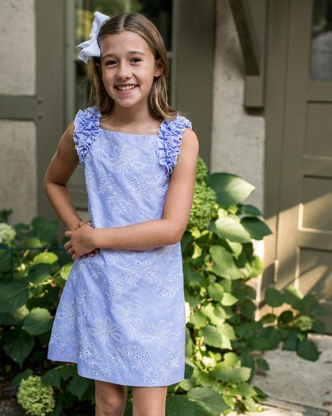 Florence Eiseman Blue Stripe Dress