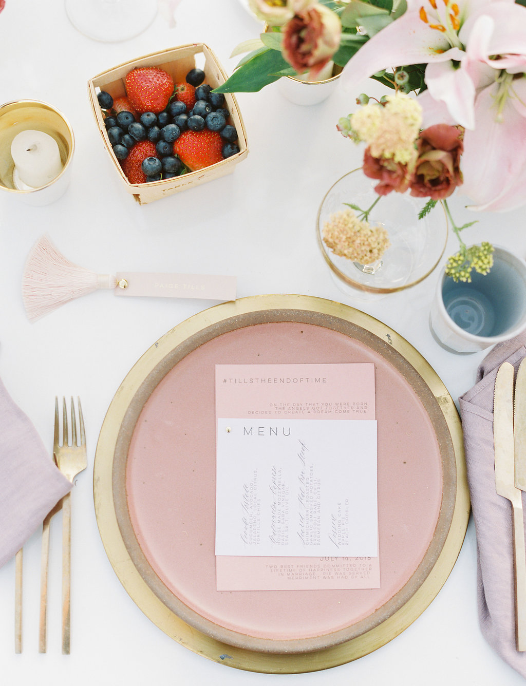 paige zack wedding place setting