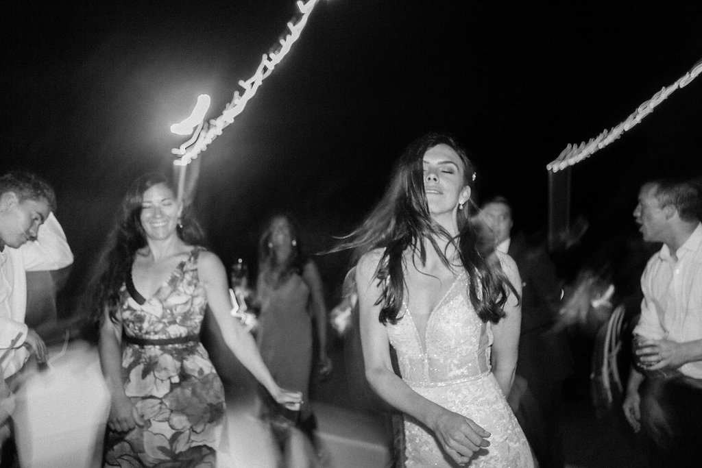 paige zack wedding bride dancing