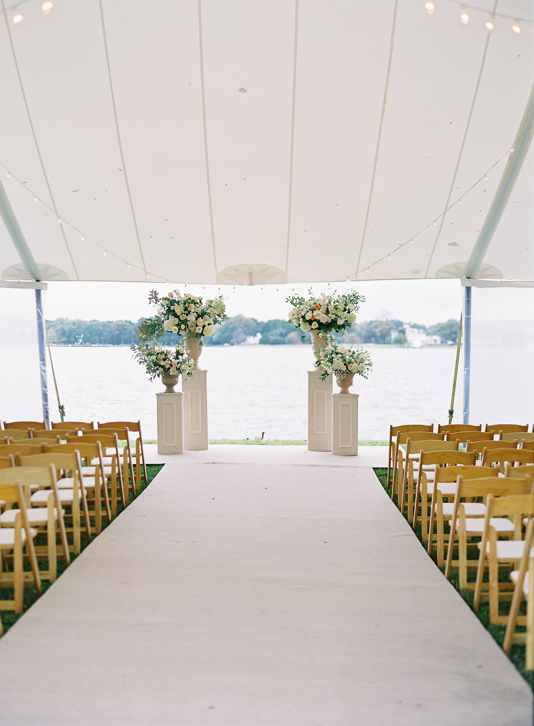 lauren alex wedding ceremony location tent