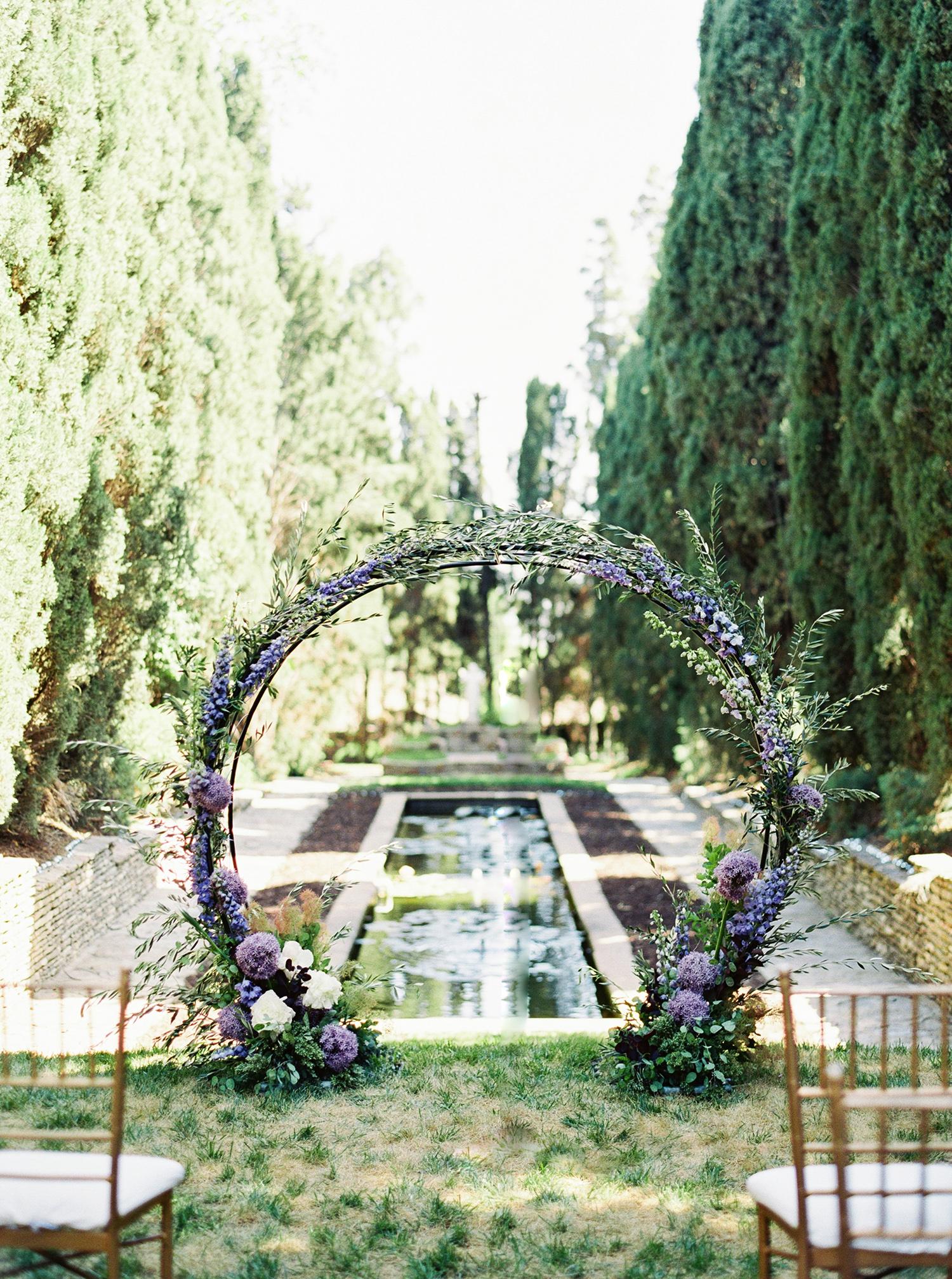 molly josh wedding arch in garden