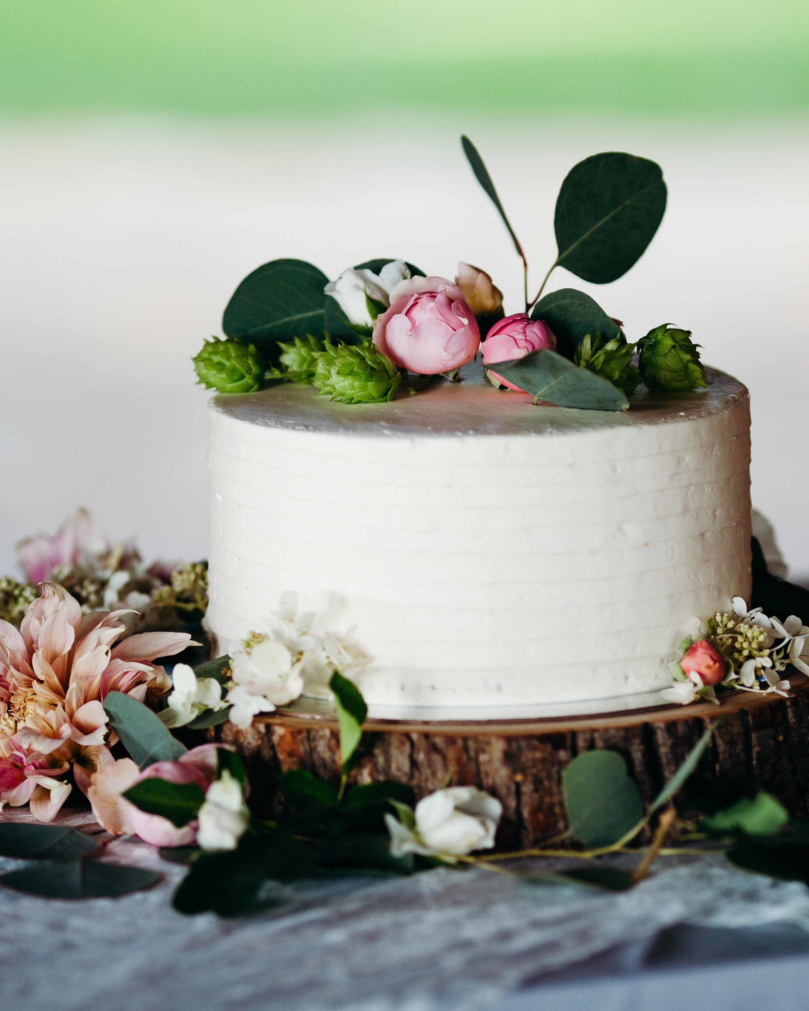 Wedding Cake Flowers Edible: 44 Wedding Cakes With Fresh Flowers