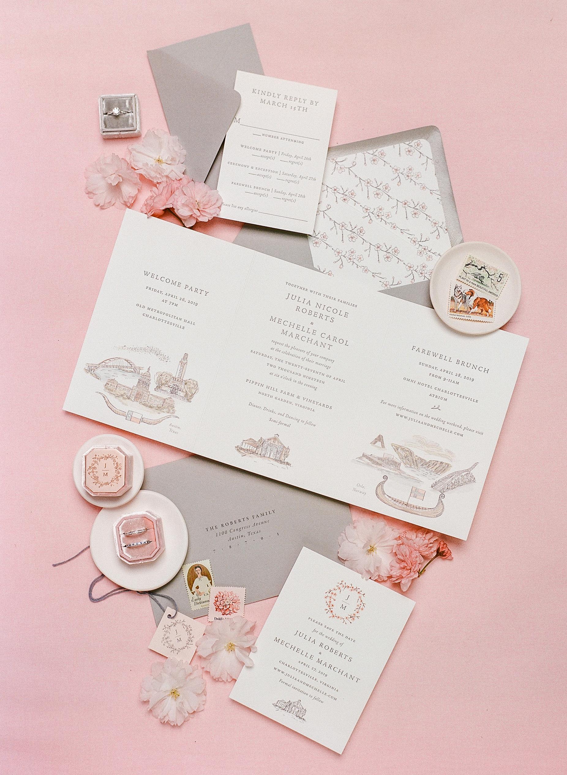 mechelle julia wedding invites stationery suite