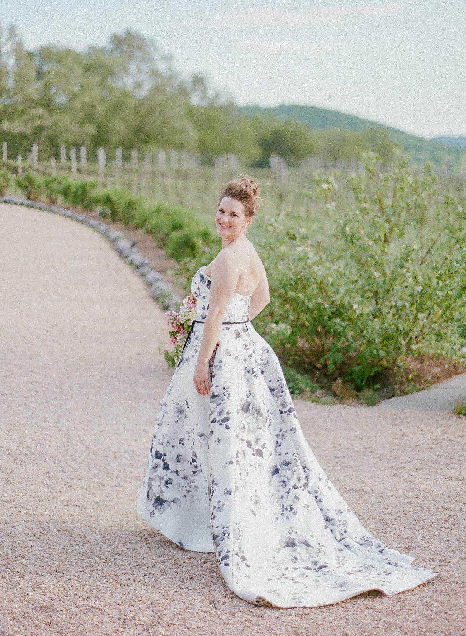 mechelle julia wedding bride floral dress