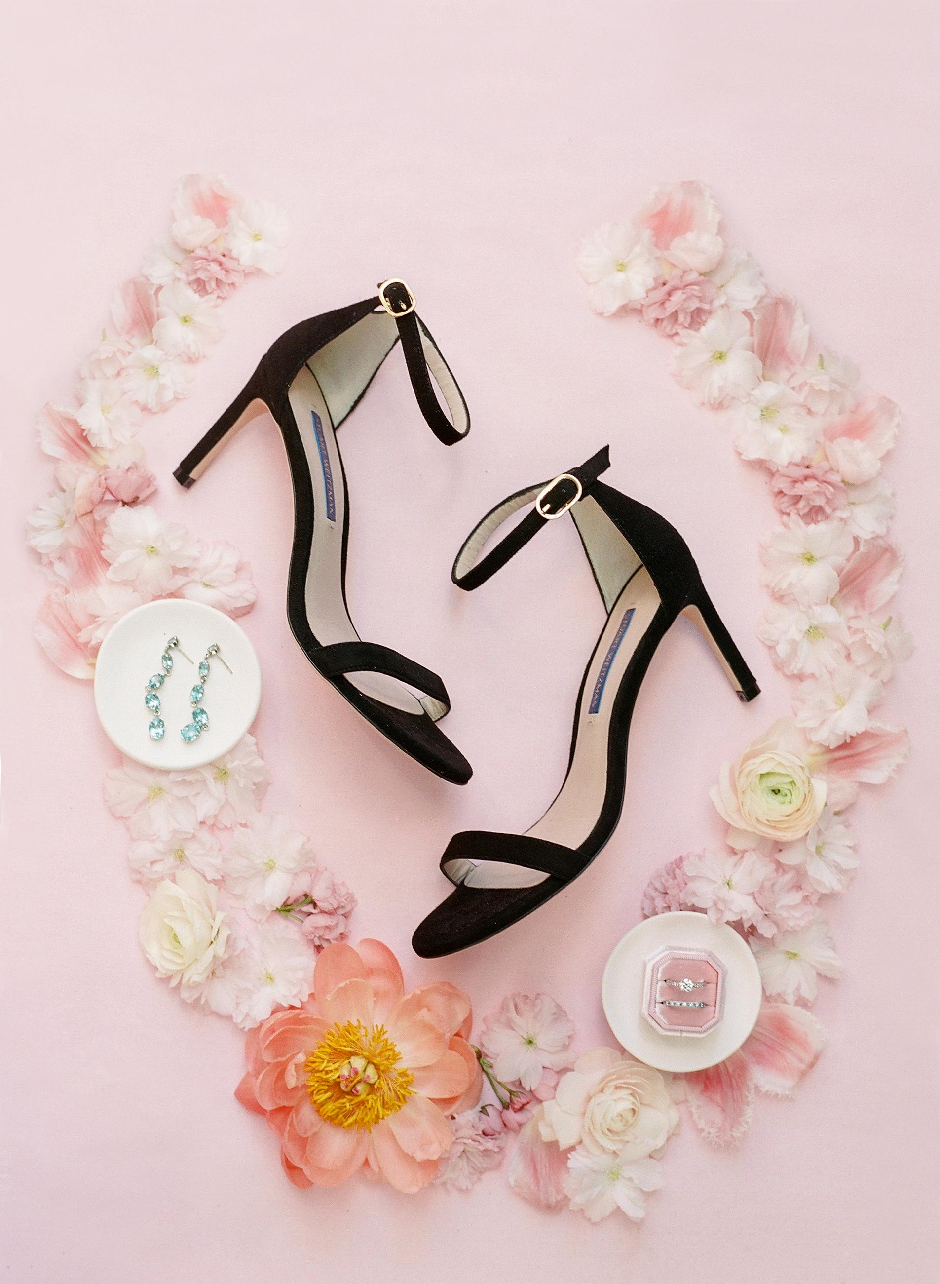 mechelle julia wedding black shoes and jewelry