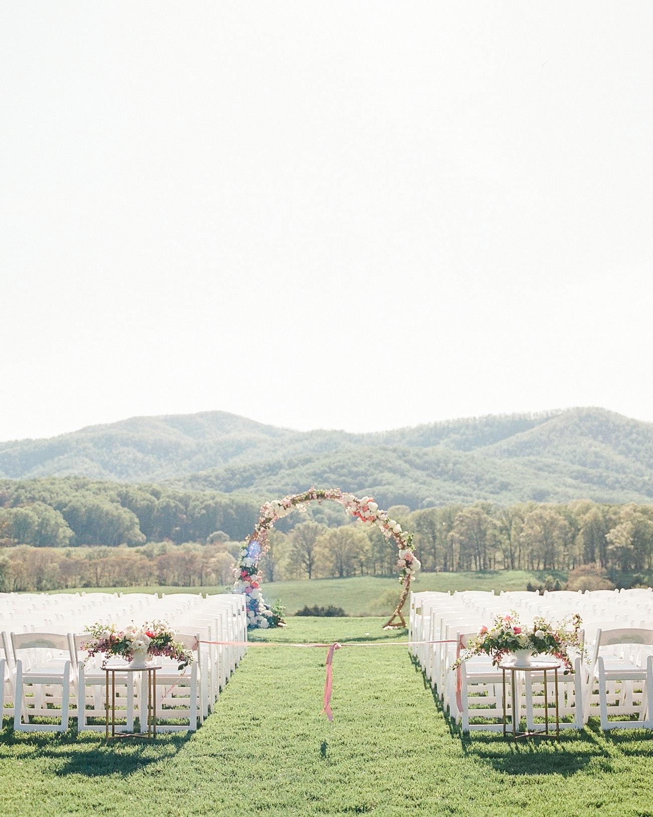 mechelle julia wedding outdoor ceremony site