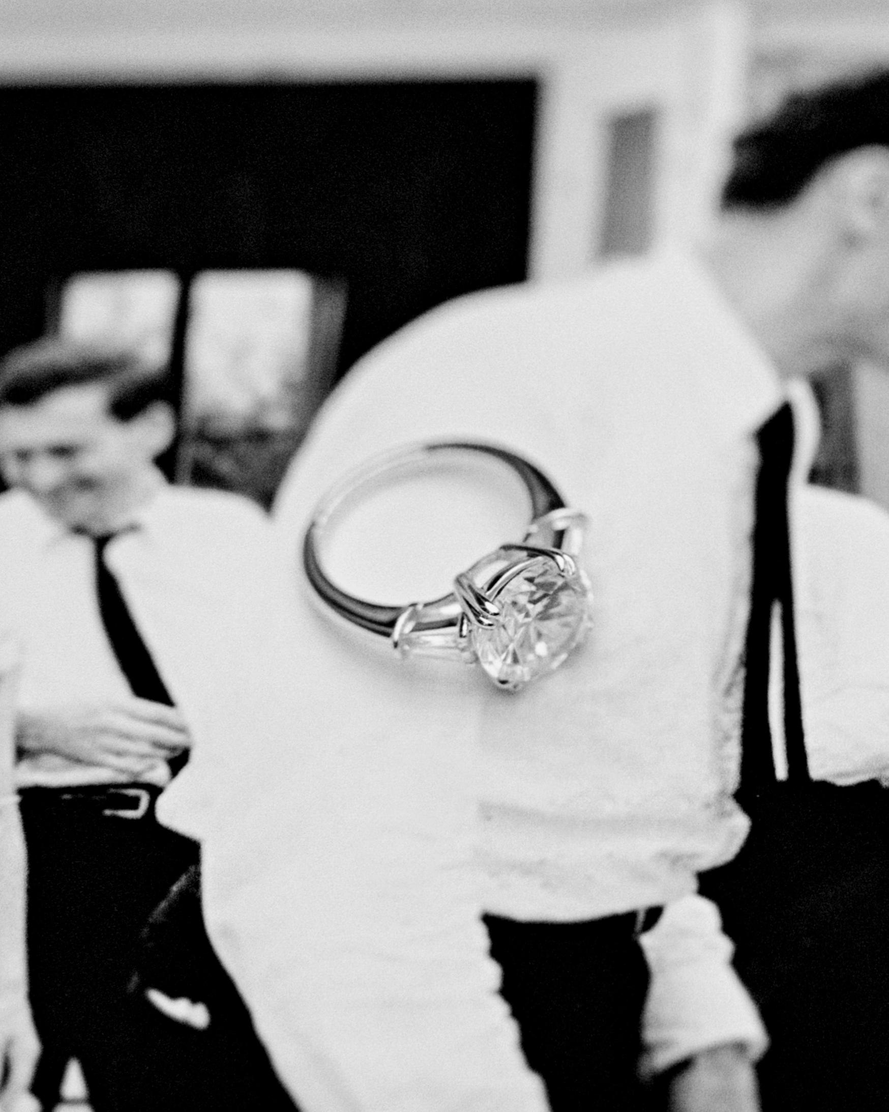 Elizabeth wedding ring black and white