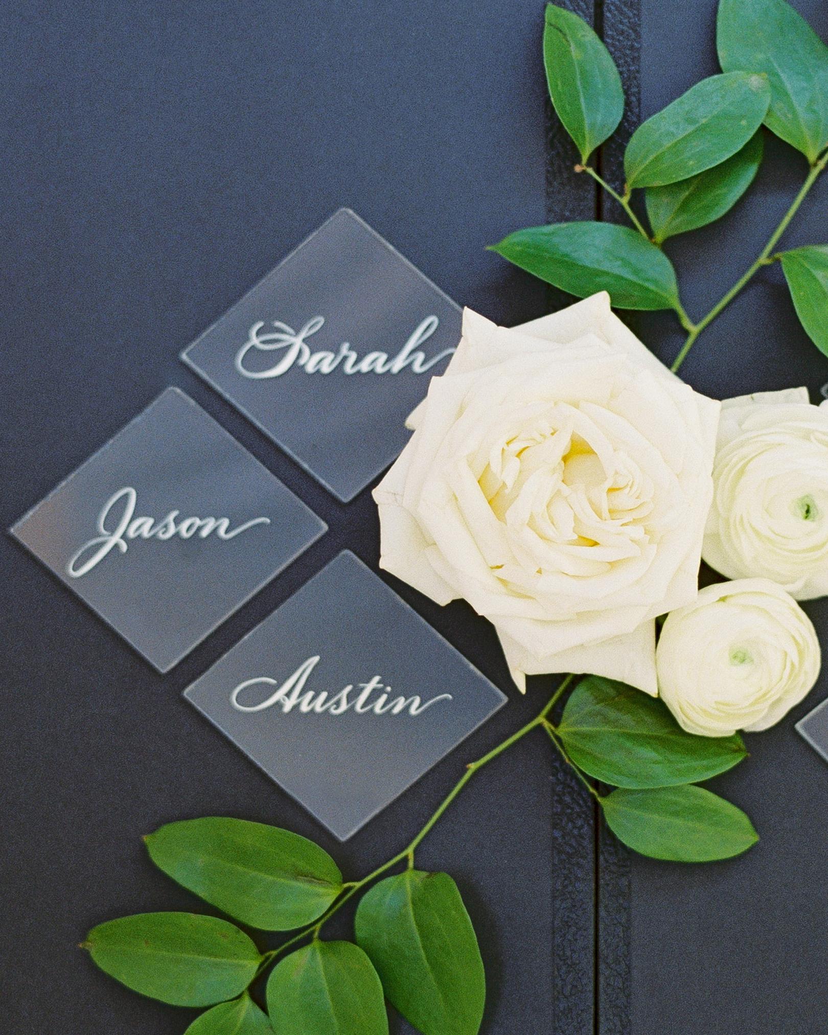 Elizabeth and Robert wedding escort cards