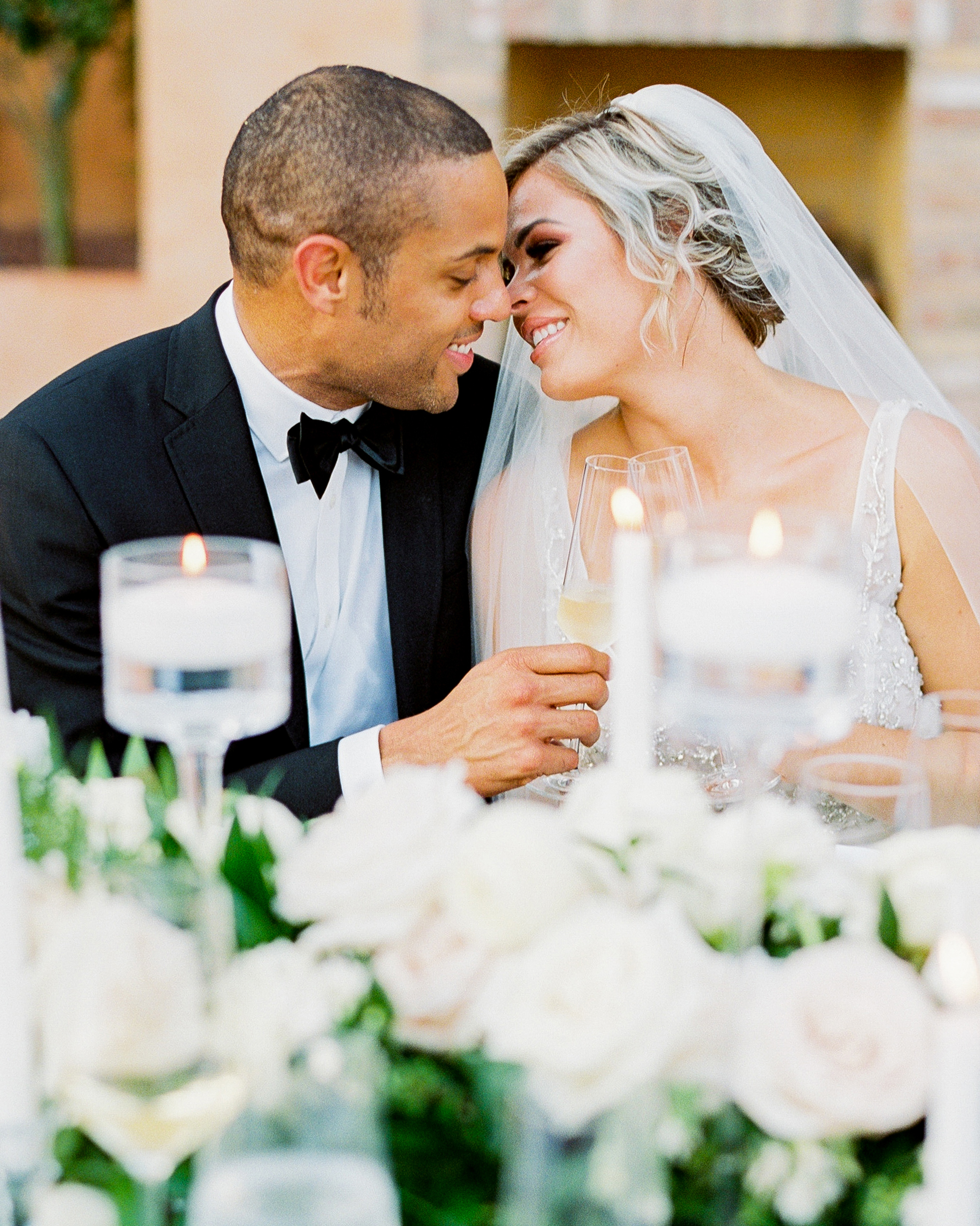 Elizabeth and Robert wedding reception couple