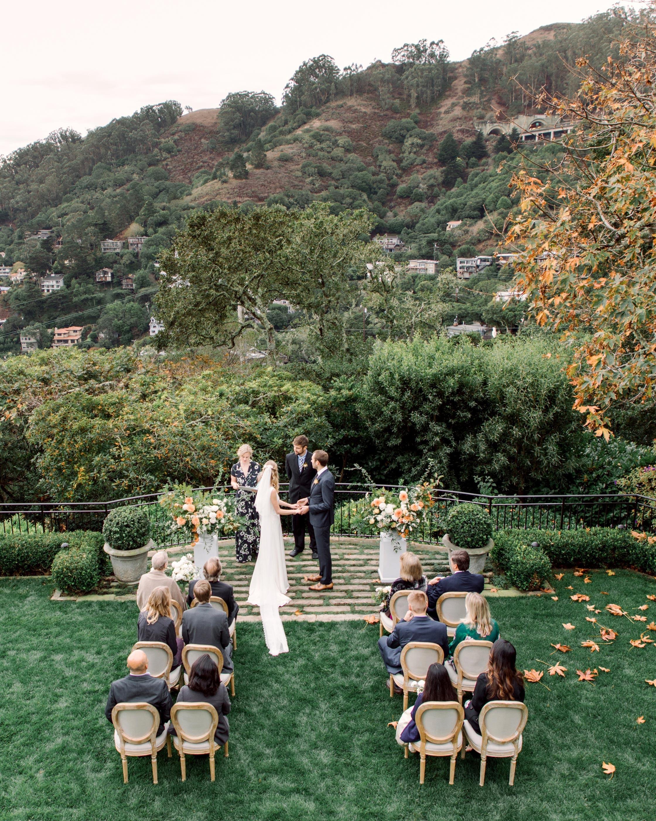 Wedding Ceremony Sites: An Intimate Backyard Wedding In Sausalito, California