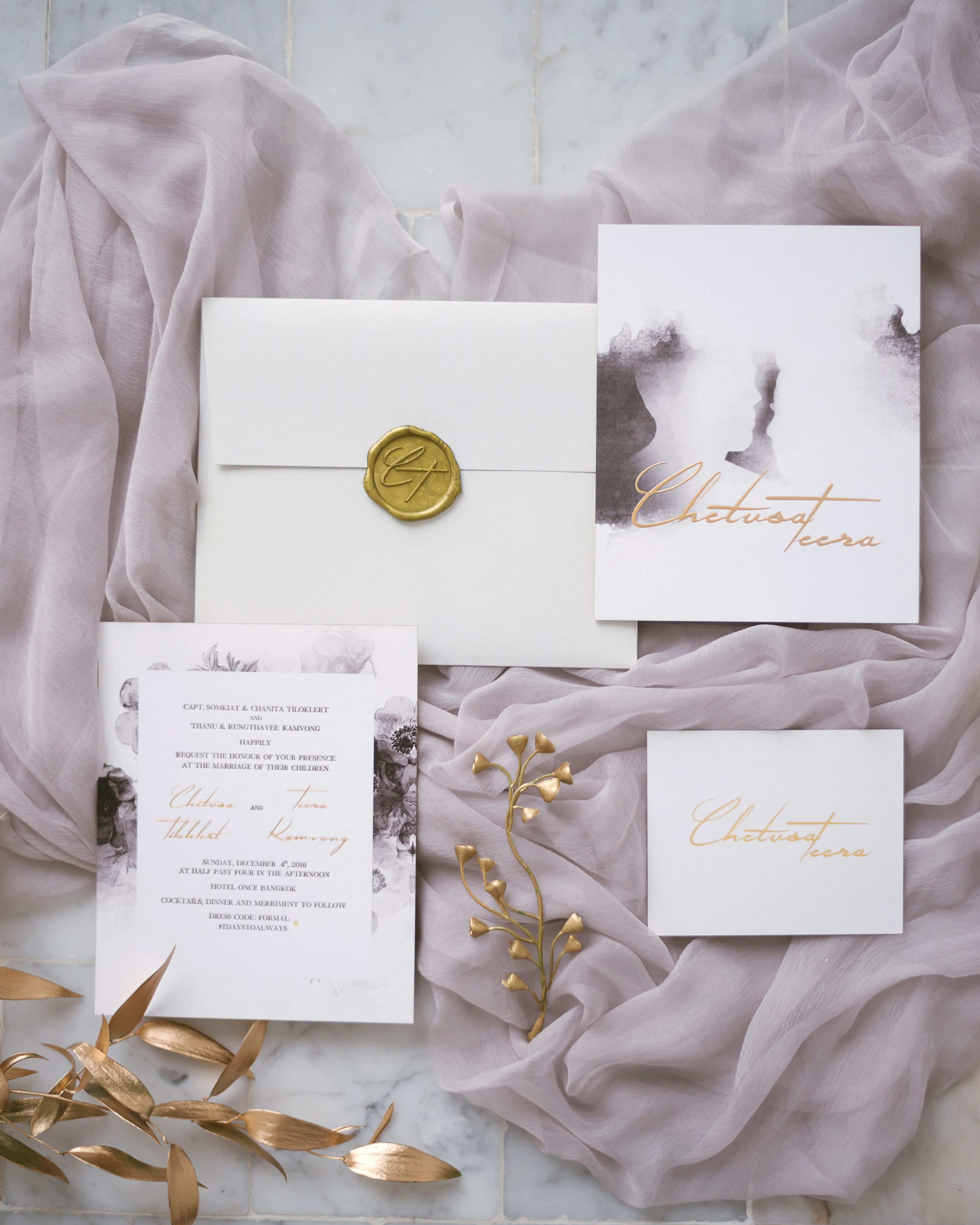 b329402957ed5 Gorgeous Wedding Invitations with Wax Seals | Martha Stewart Weddings