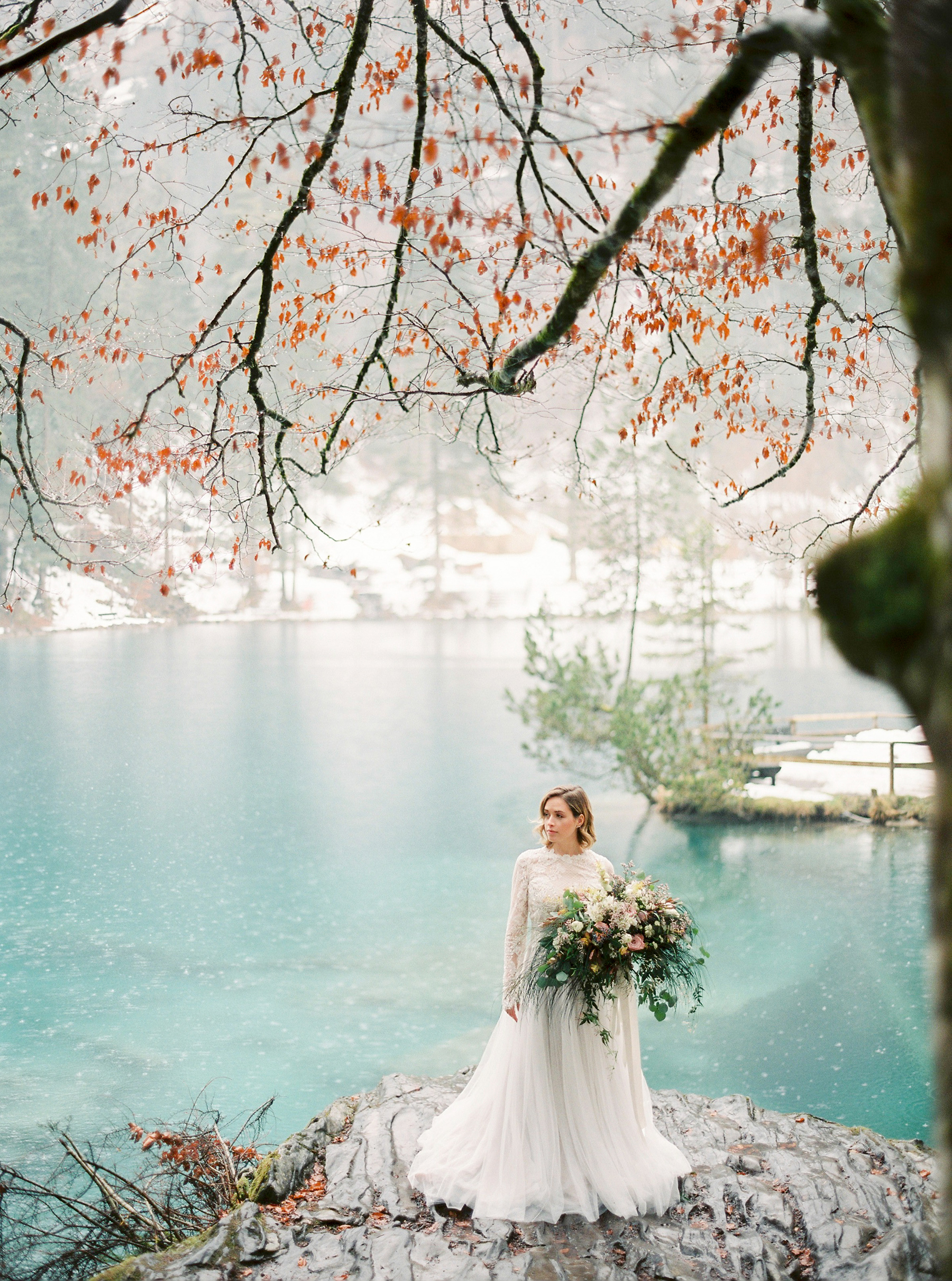 Bride by a Lake