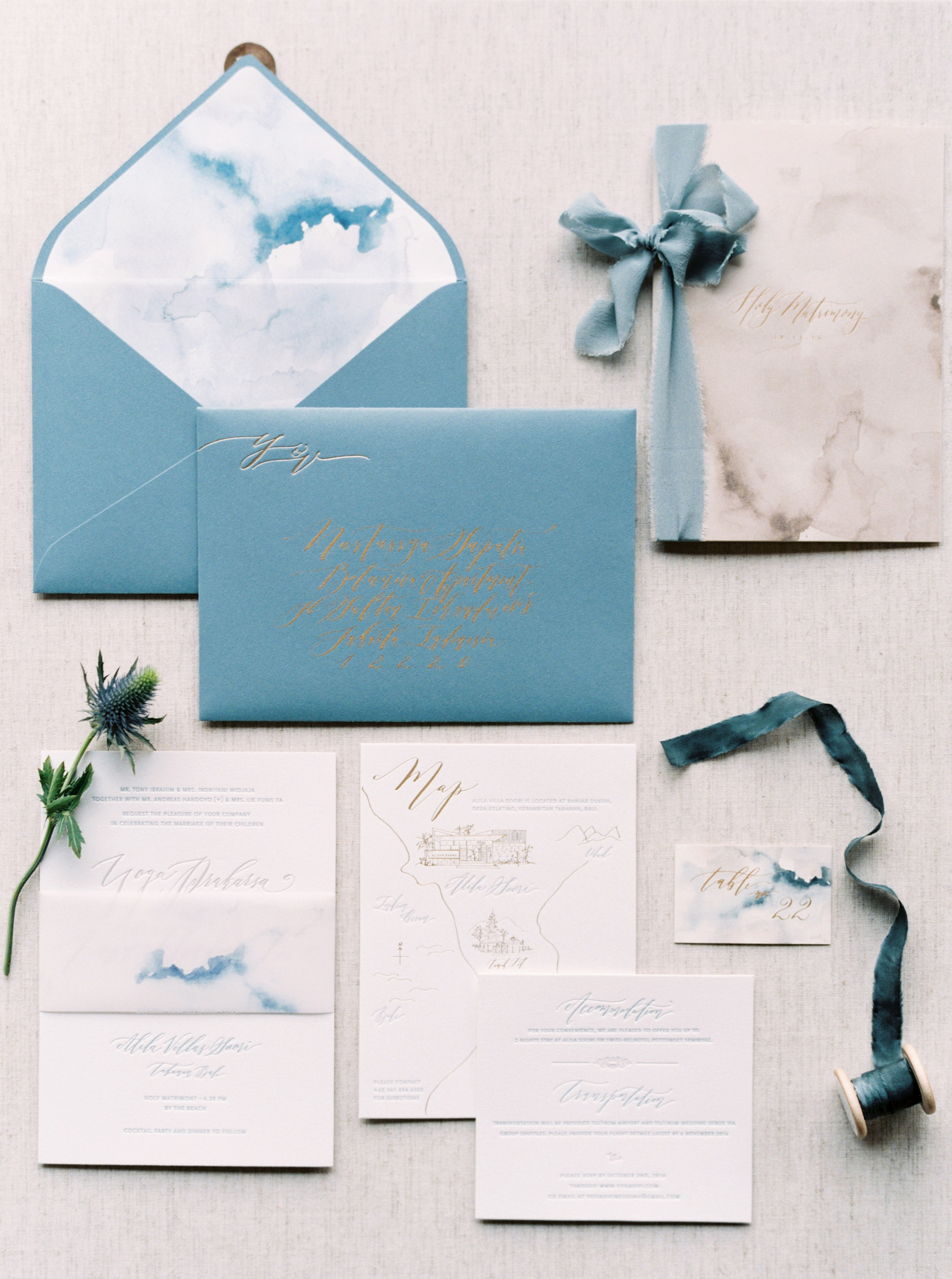 Wedding Invitations with Monogrammed Envelopes