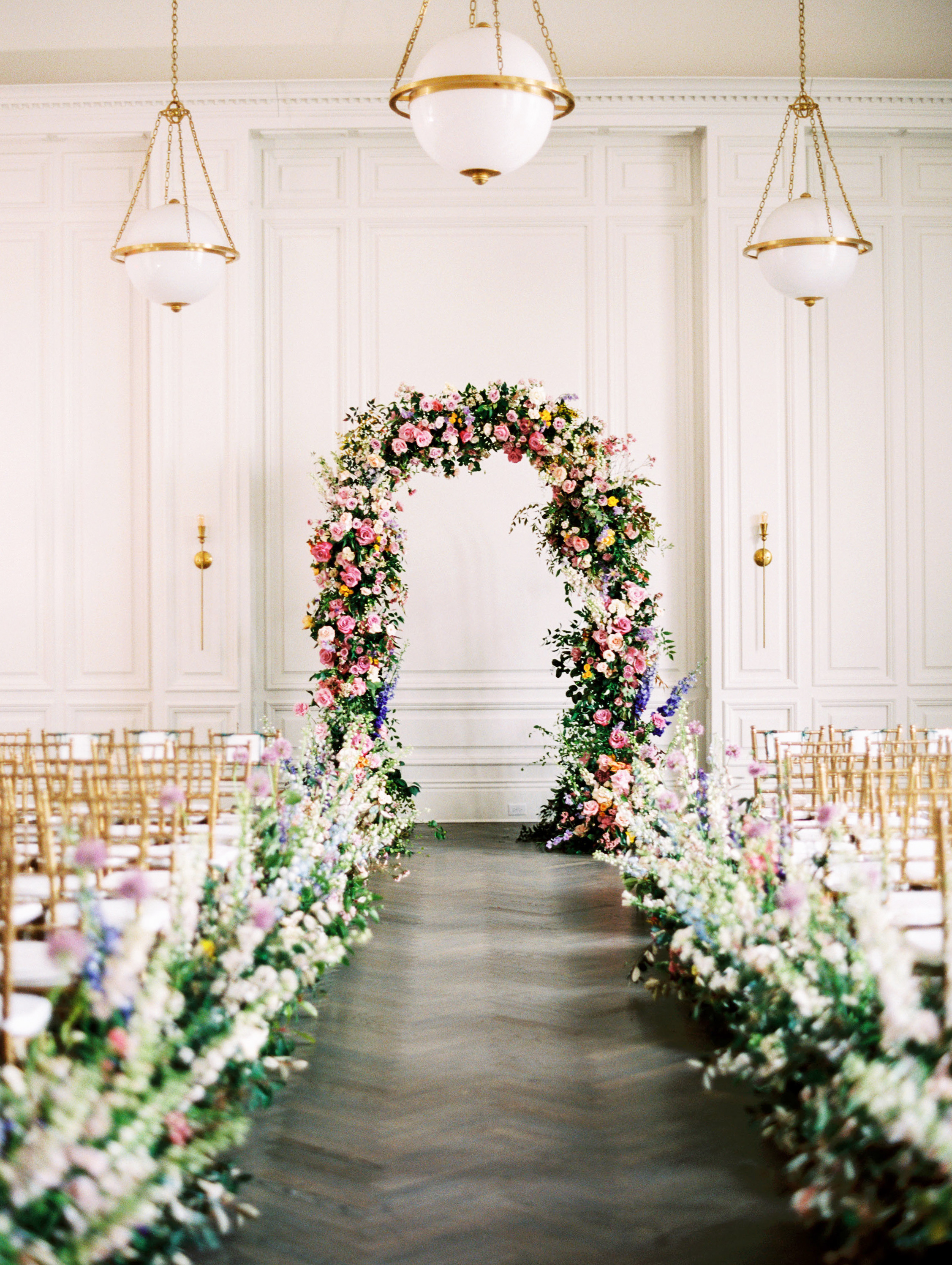 stephanie joe wedding floral ceremony arch