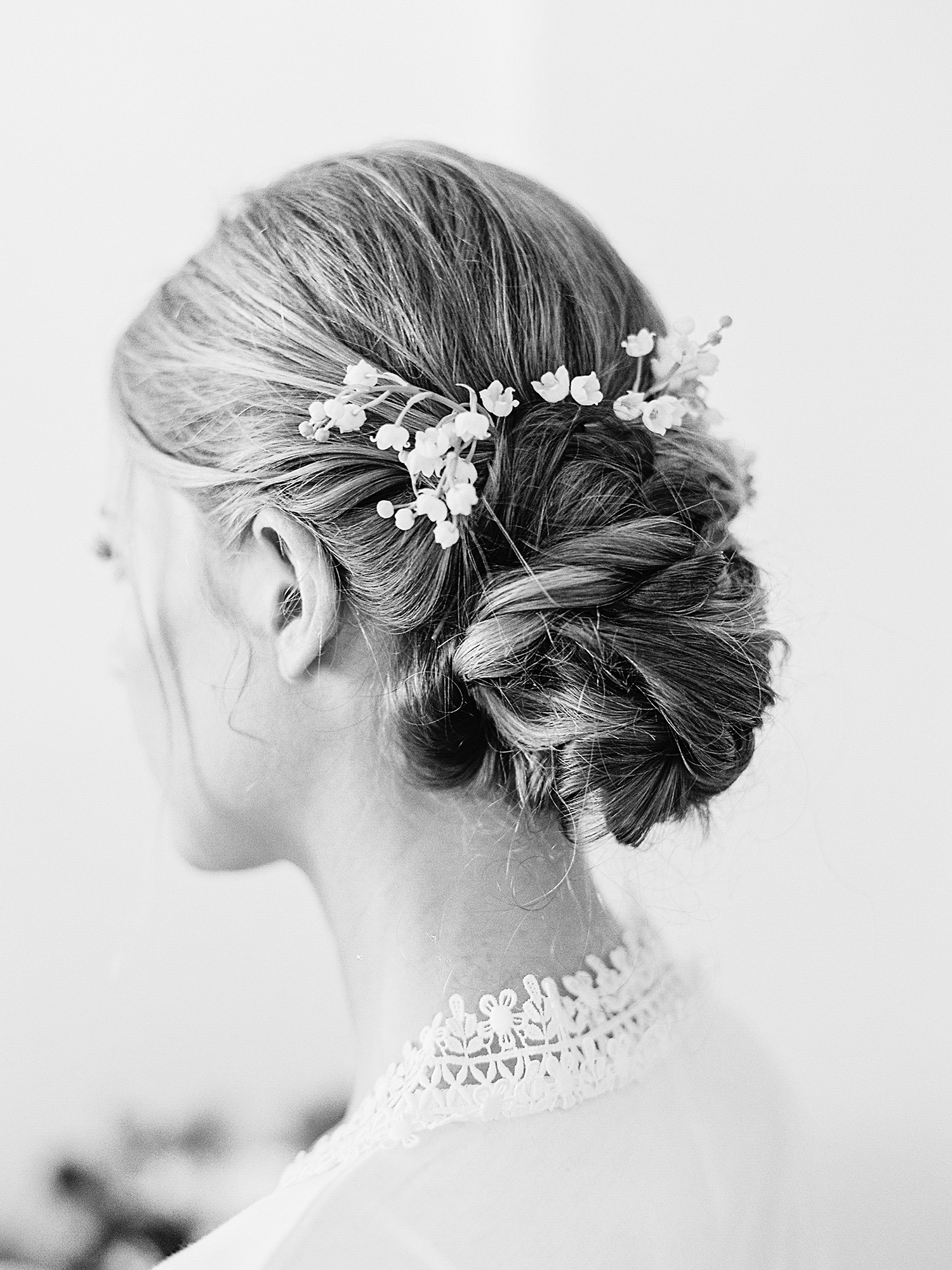 A Sentimental Bridal Hairstyle